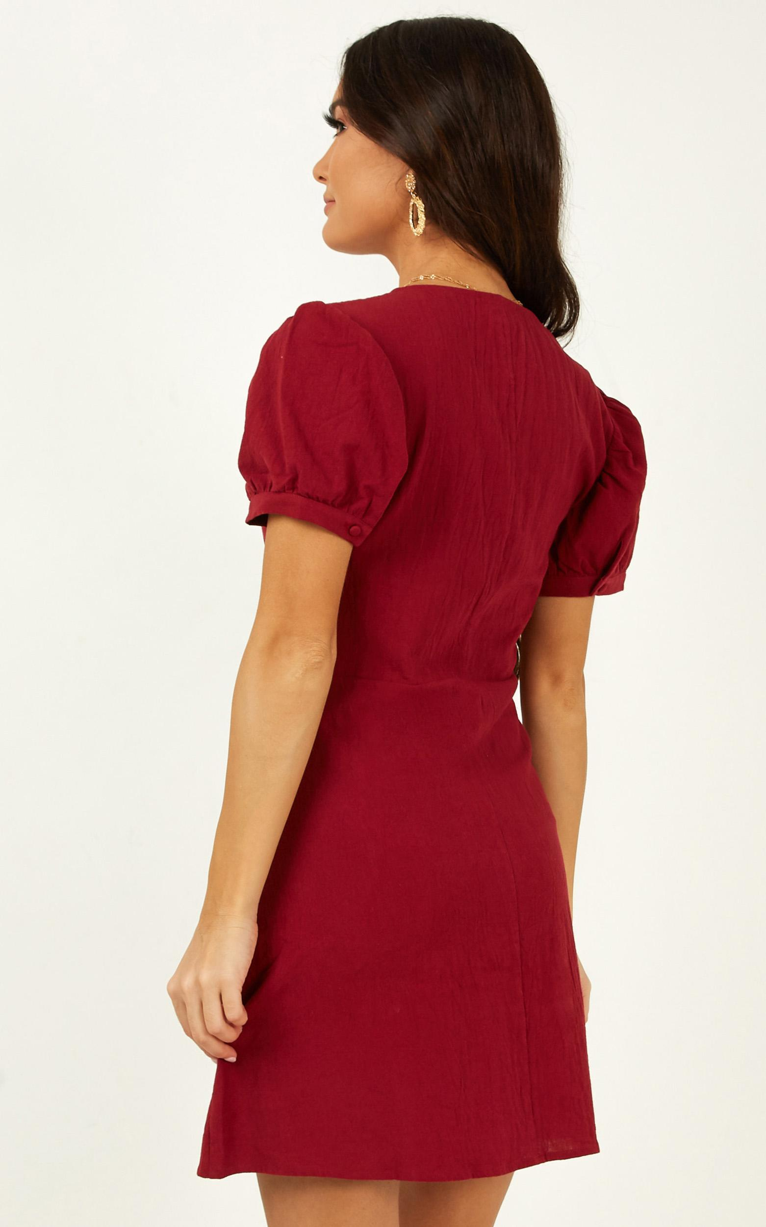 Morning Vibes Dress in wine - 20 (XXXXL), Wine, hi-res image number null