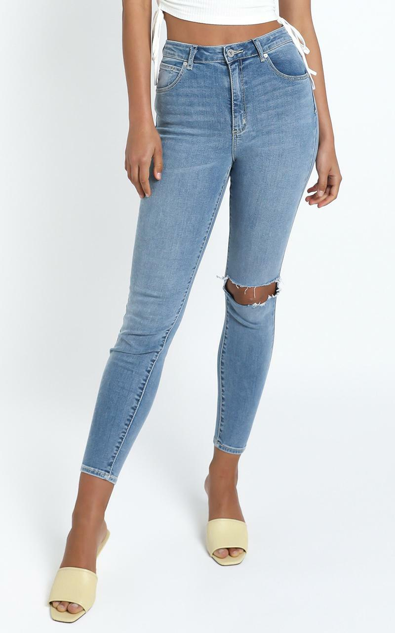 Abrand - A High Skinny Ankle Basher Jean in Breakthru - 6 (XS), BLU3, hi-res image number null