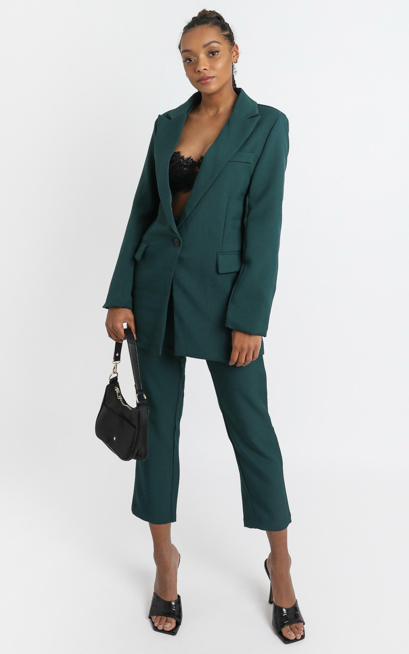 Gabrielle Blazer in Emerald - 6 (XS), Green, hi-res image number null