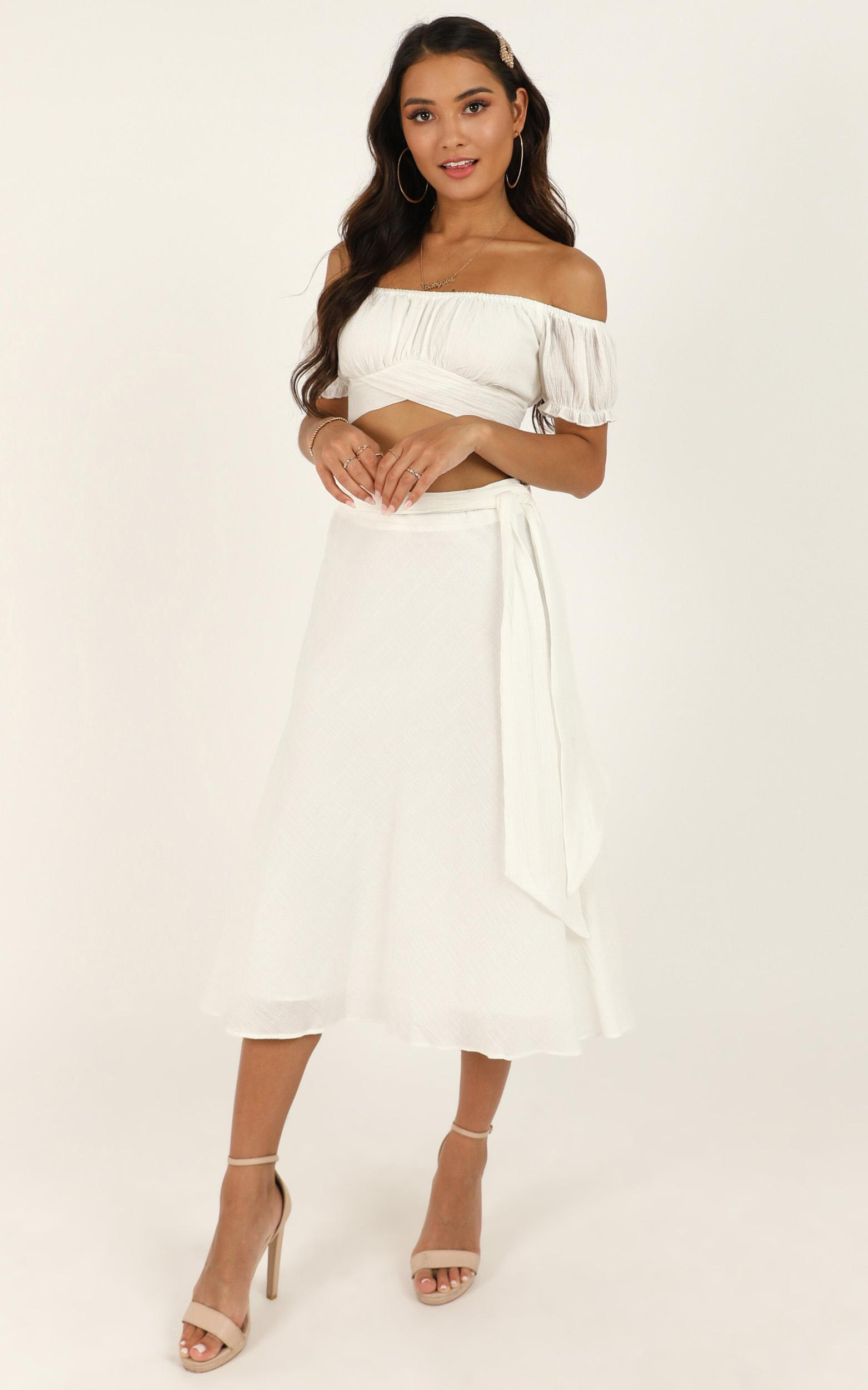 Ready Or Not Skirt in white linen look - 20 (XXXXL), White, hi-res image number null