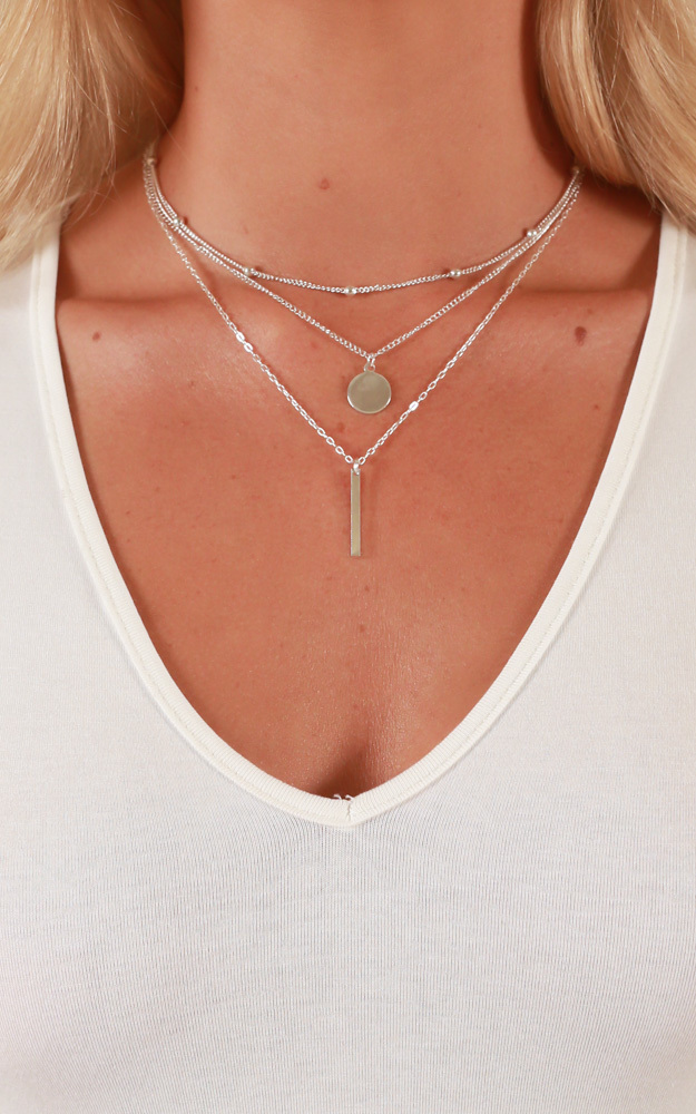 The Guest List necklace in silver, Silver, hi-res image number null