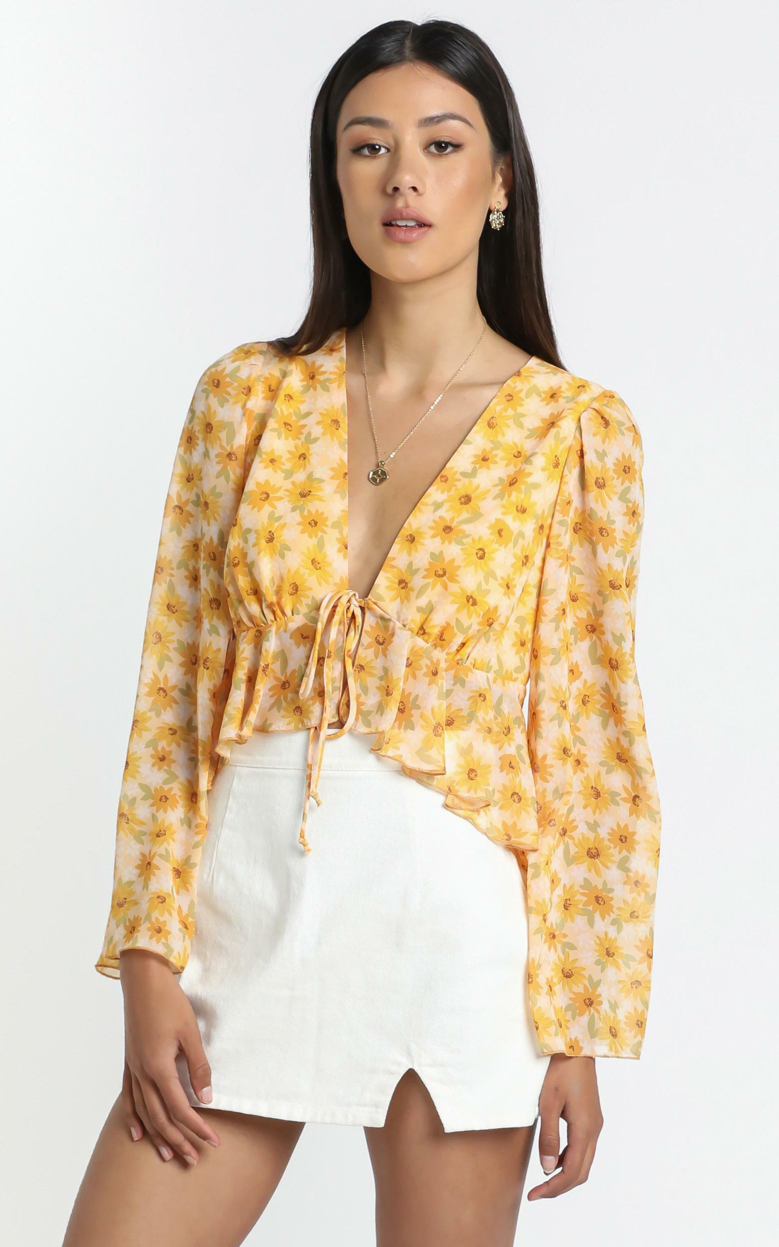 Dance It Out Top in Sunflower - 16 (XXL), Yellow, hi-res image number null