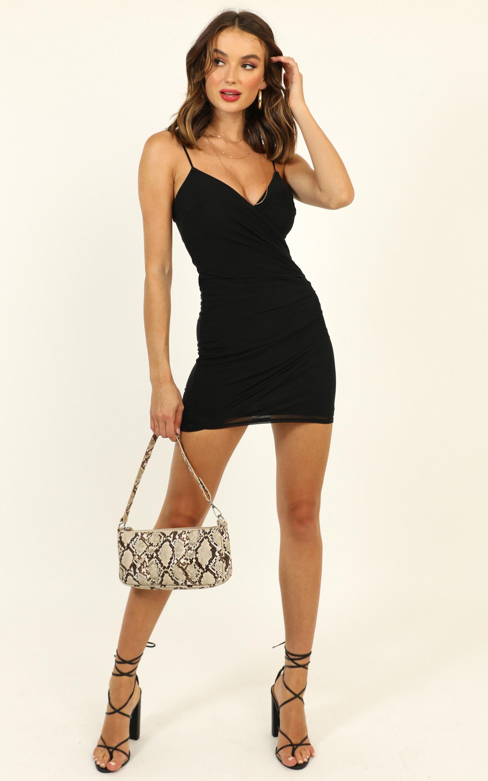 Do You Love Me Dress in black mesh - 6 (XS), Black, hi-res image number null