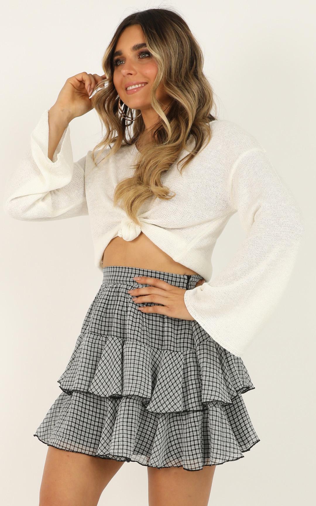 Latest Find Skirt In black check - 12 (L), Black, hi-res image number null