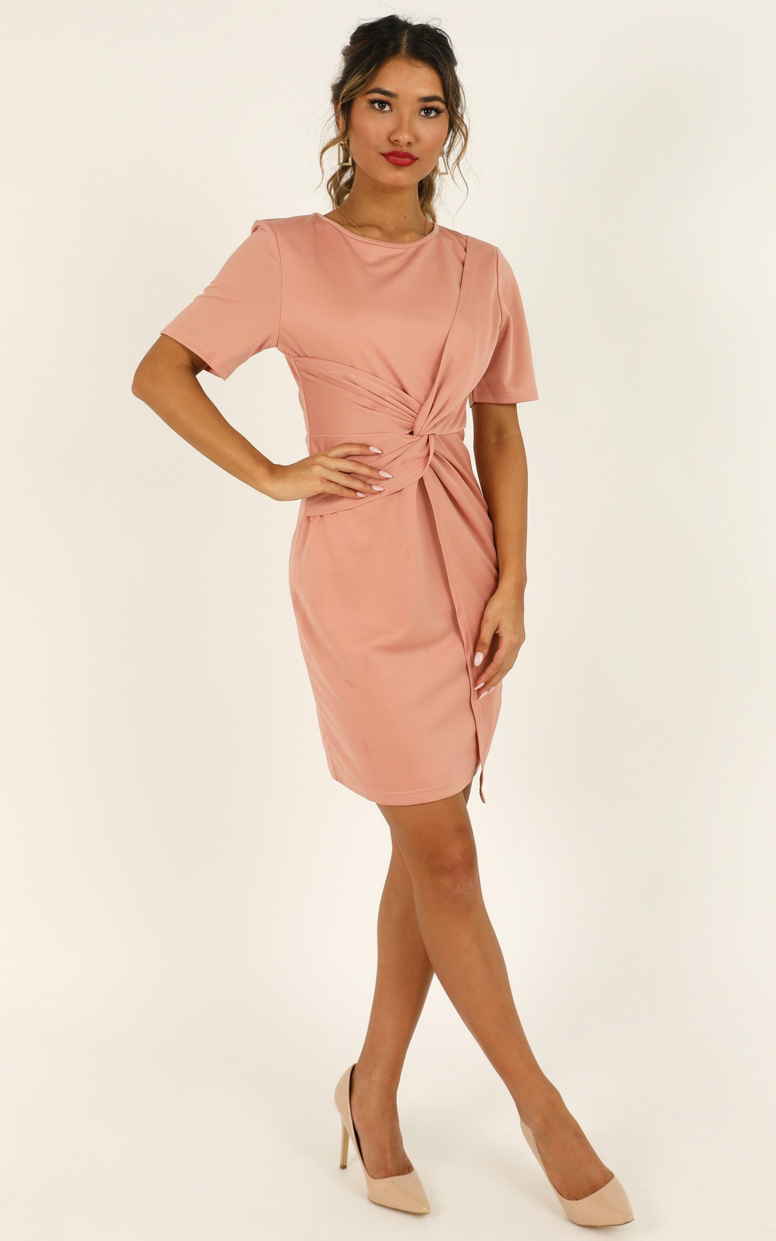 Works A Charm Knot Dress in blush - 4 (XXS), Blush, hi-res image number null