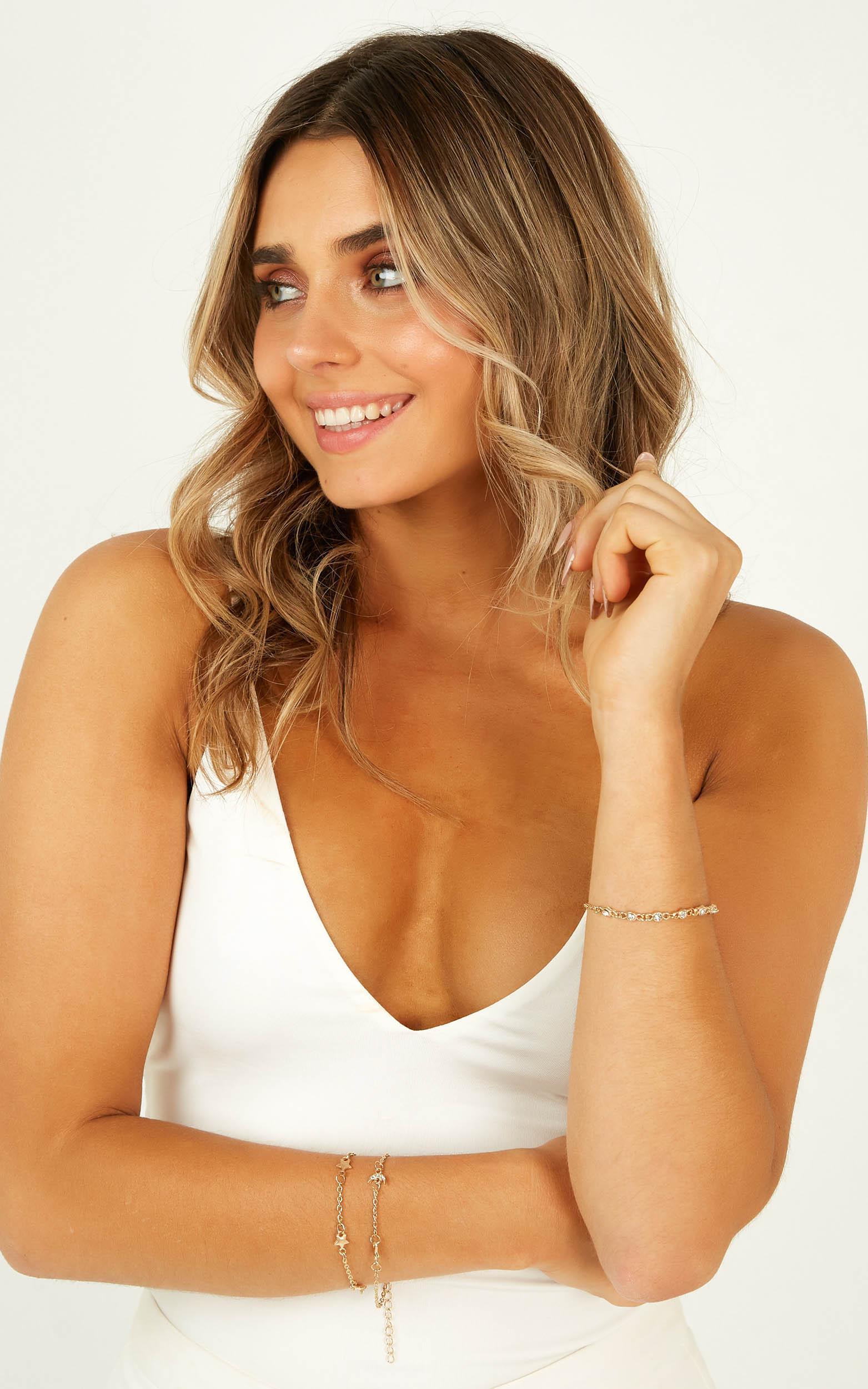 Want You Close Bracelet Set In Gold, , hi-res image number null