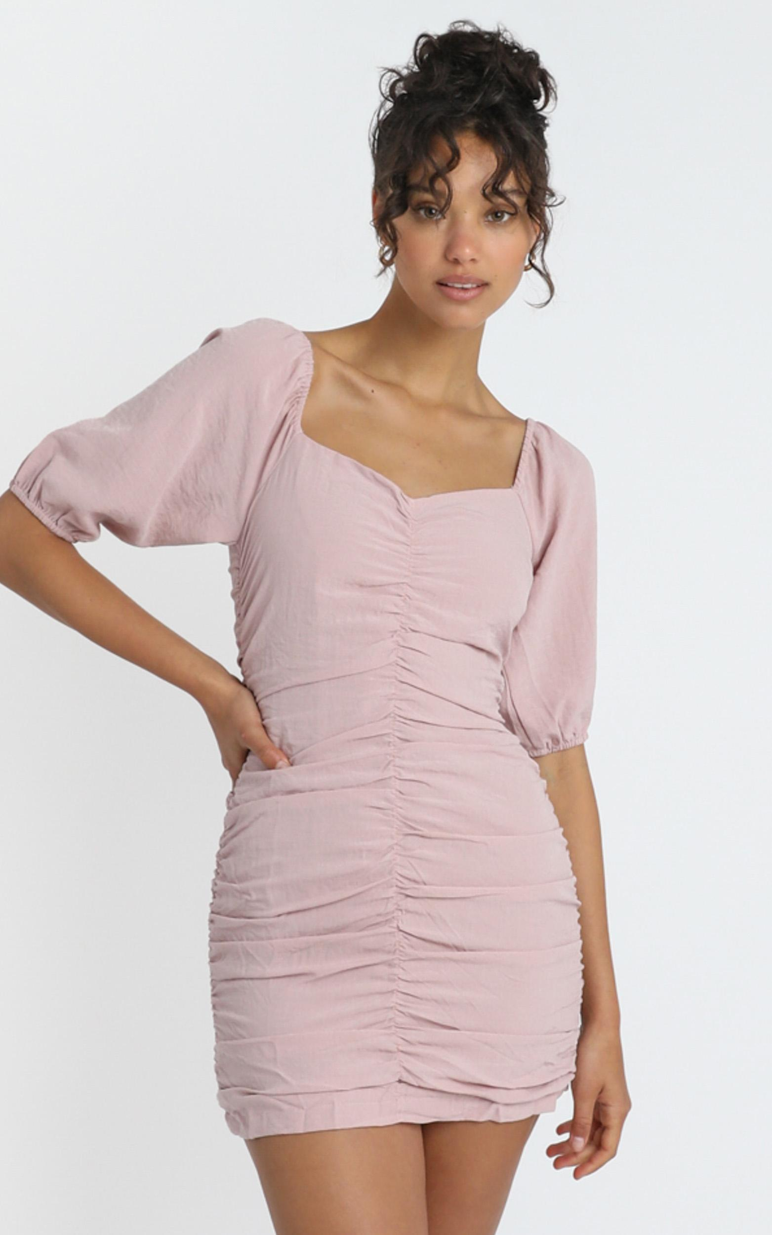 Avis Dress in Dusty Pink - 6 (XS), Pink, hi-res image number null