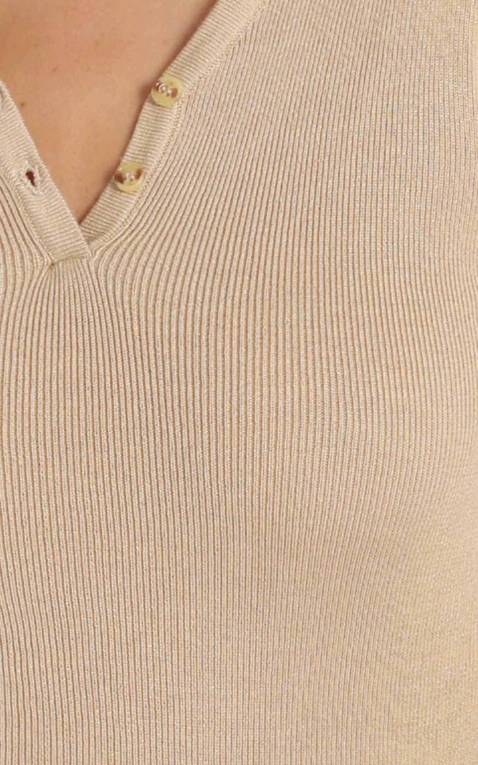 Promising Future knit top in camel - 20 (XXXXL), Camel, hi-res image number null