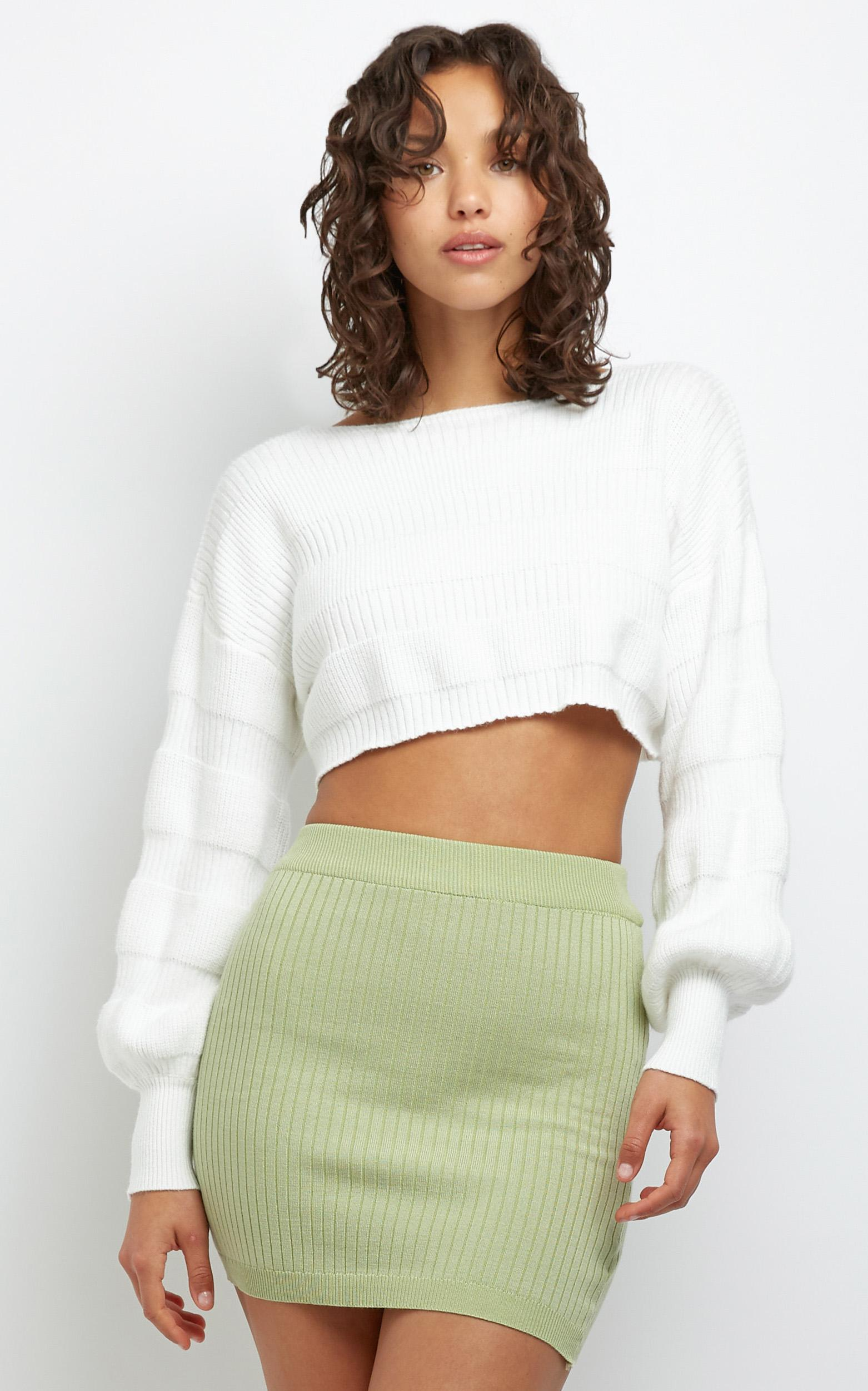 Mirabelle Knit Jumper in White - M/L, White, hi-res image number null