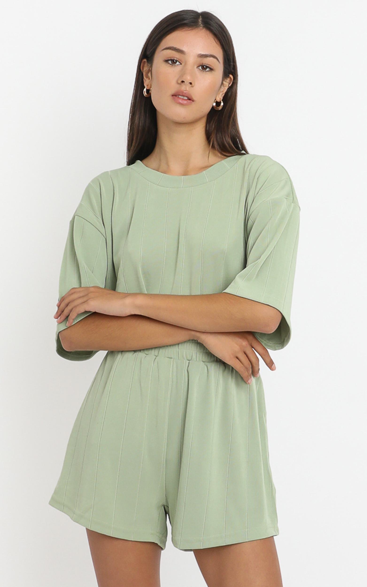 Jessica Top in Olive - 6 (XS), Khaki, hi-res image number null