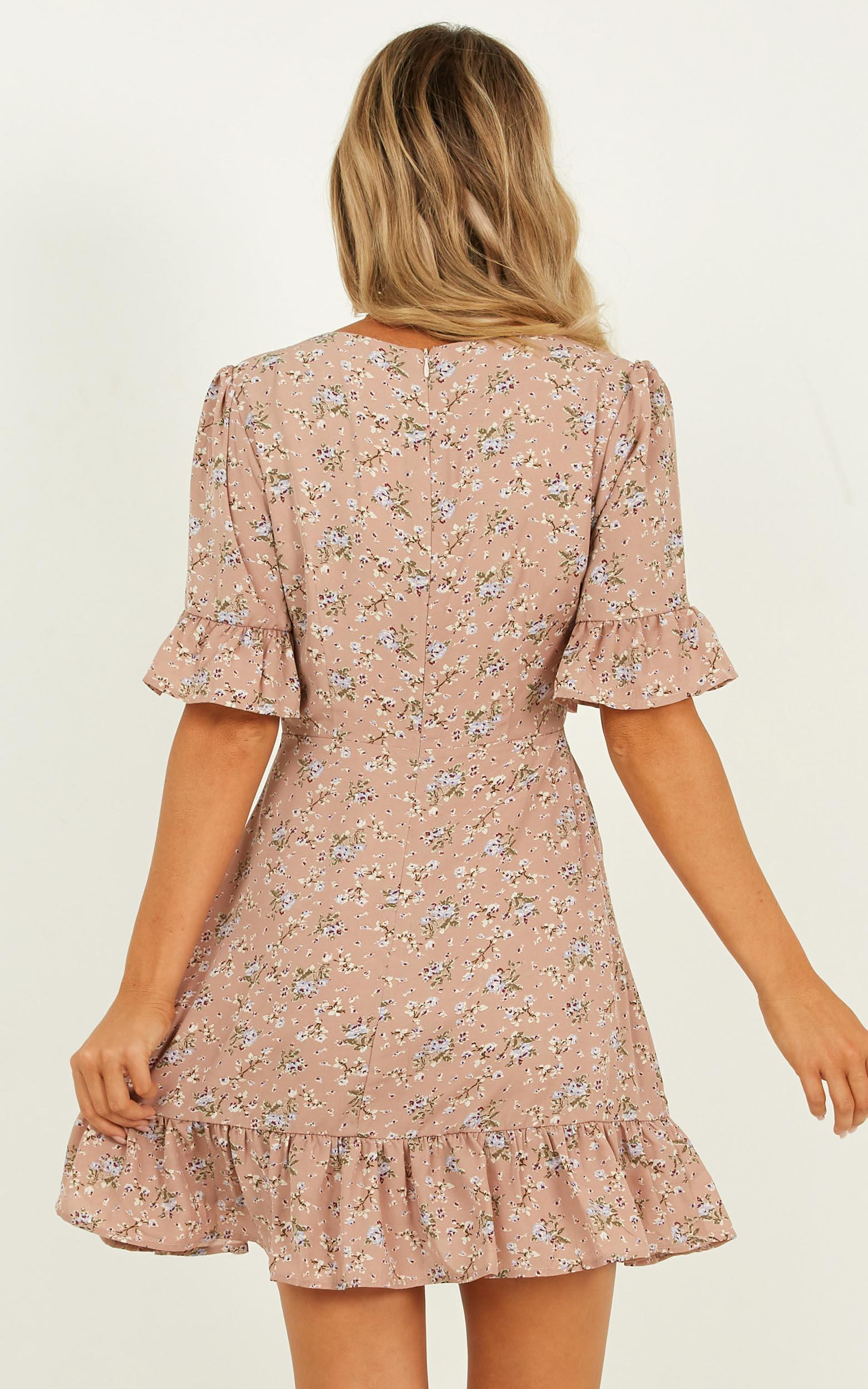 Only The Best Dress in mocha floral - 20 (XXXXL), Mocha, hi-res image number null