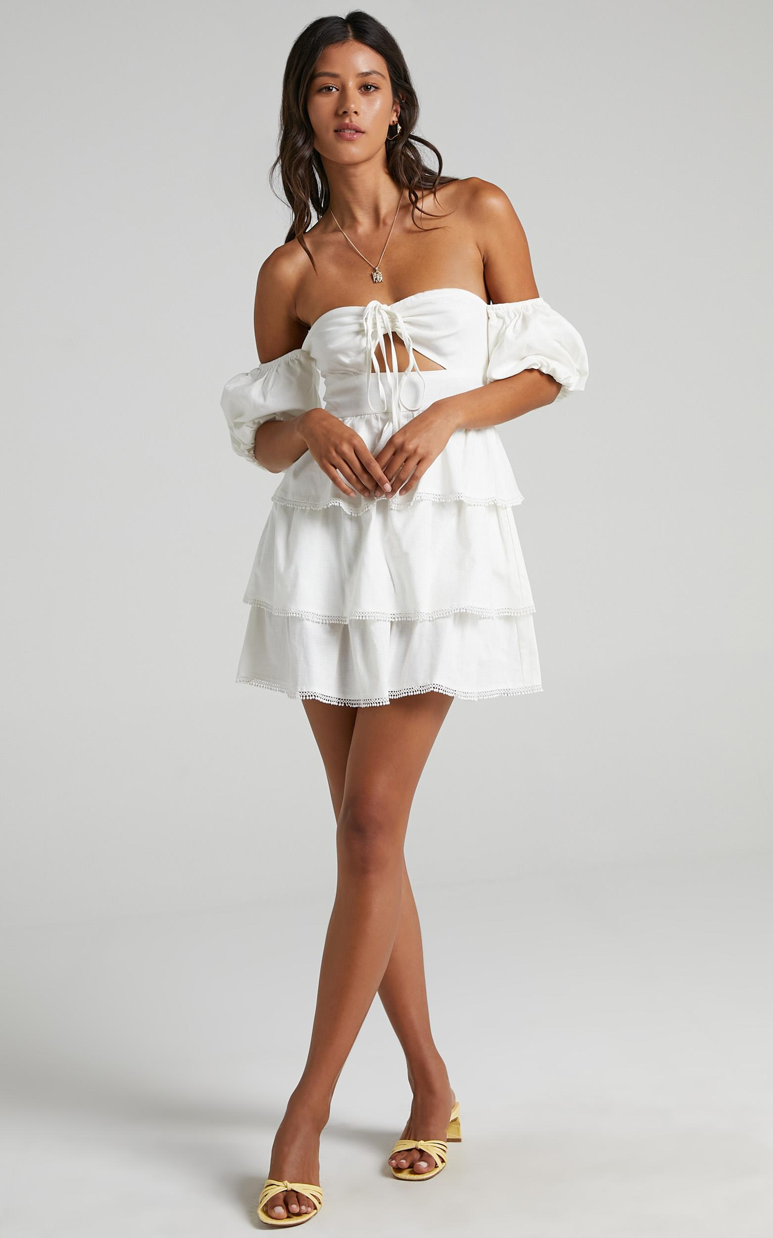 Gilmore Dress in White - 6 (XS), White, hi-res image number null