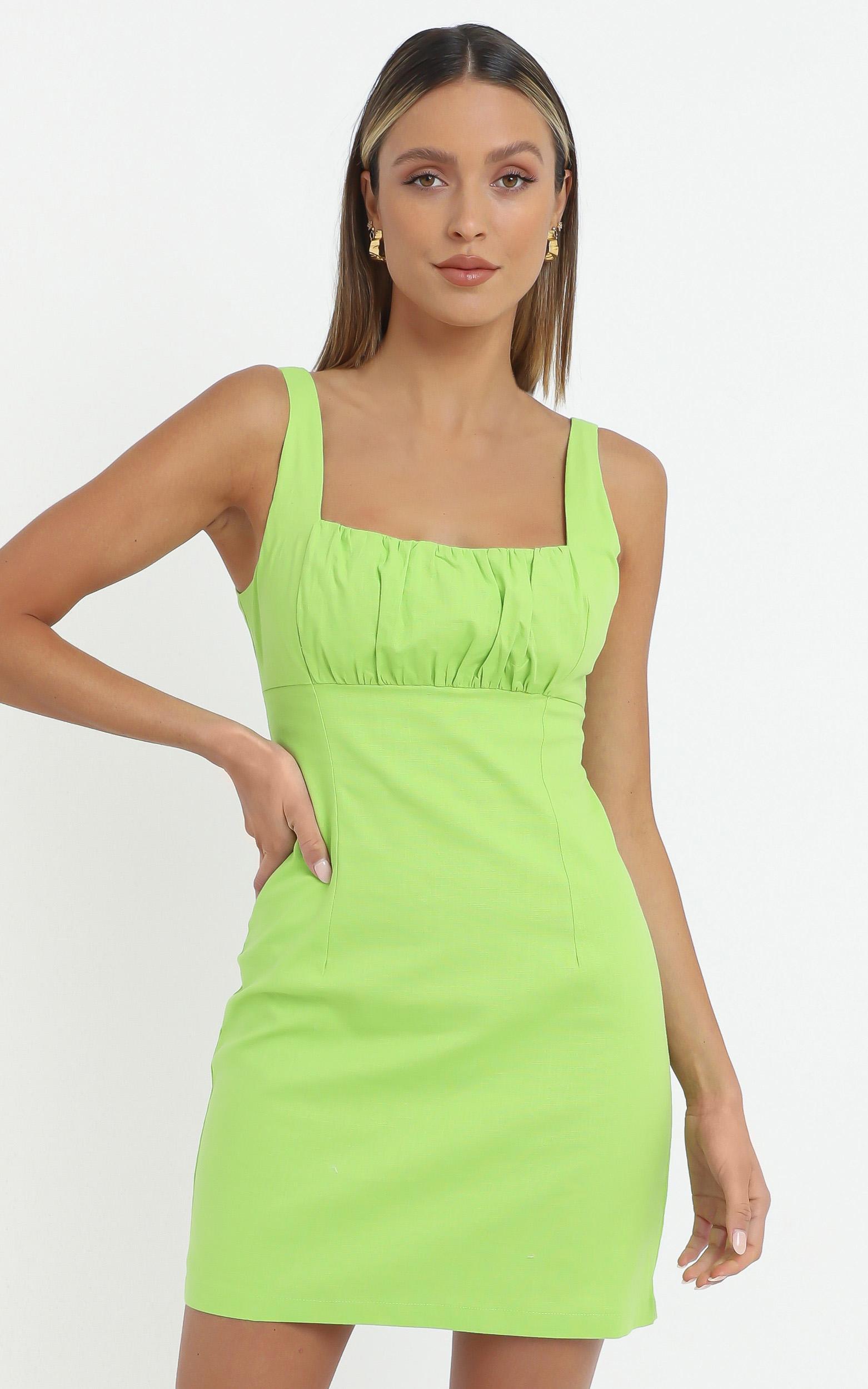 Tillie Dress in Lime, Green, hi-res image number null