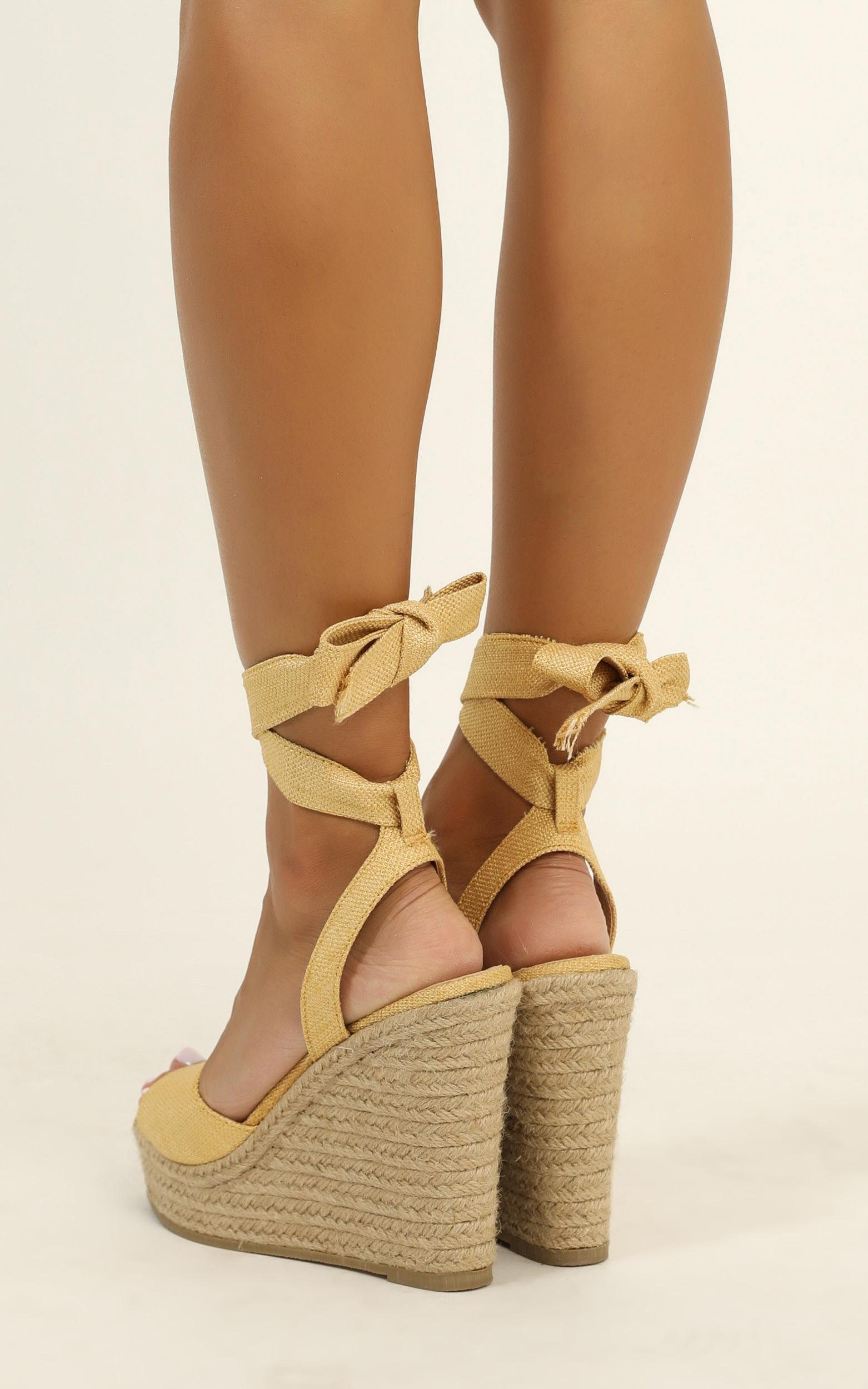 Billini - Skyros wedges in light tan micro - 10, Brown, hi-res image number null