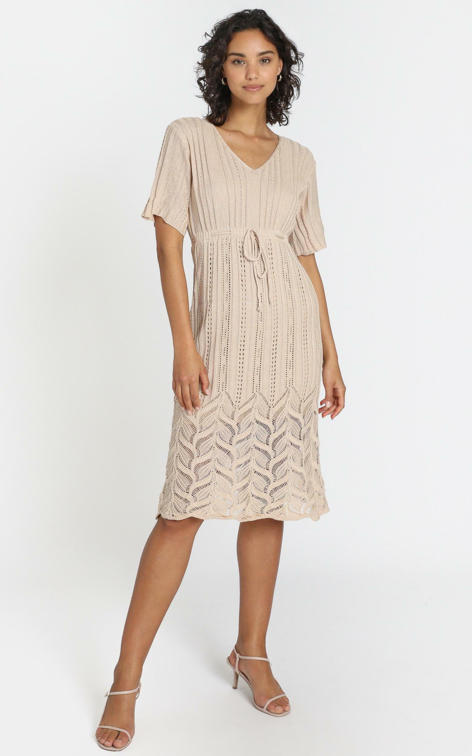 Alyssia Dress in Beige - S, Beige, hi-res image number null