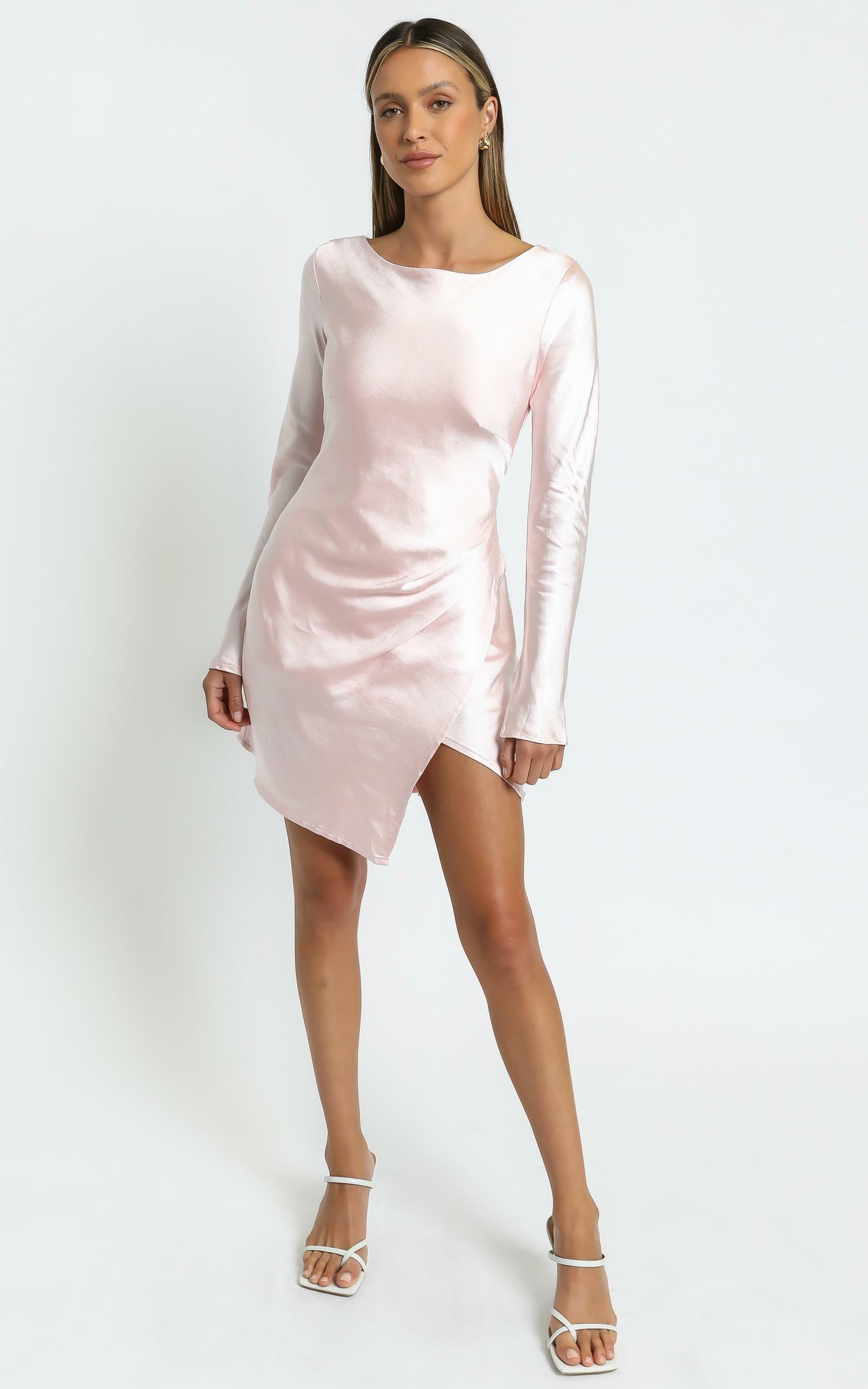 Sistine Dress in Pale Pink - 6 (XS), Pink, hi-res image number null