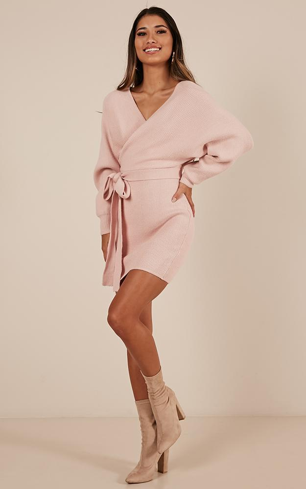 Dont Fall down knit dress in blush - 6 (XS), Blush, hi-res image number null