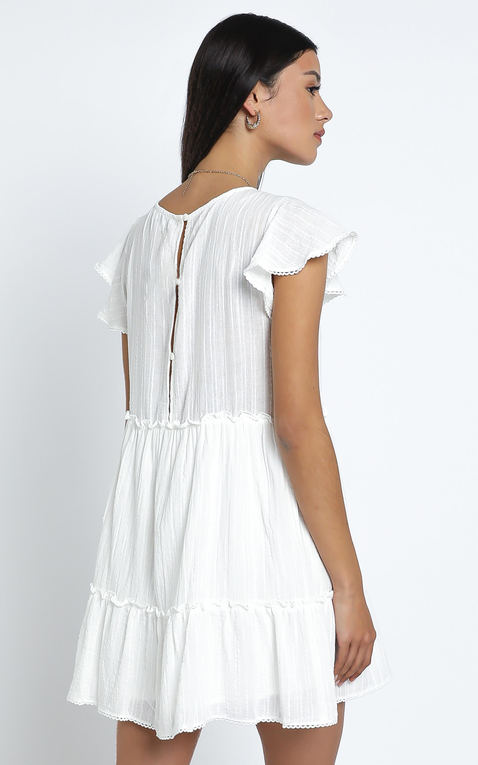 Alma Dress in White - 14 (XL), White, hi-res image number null