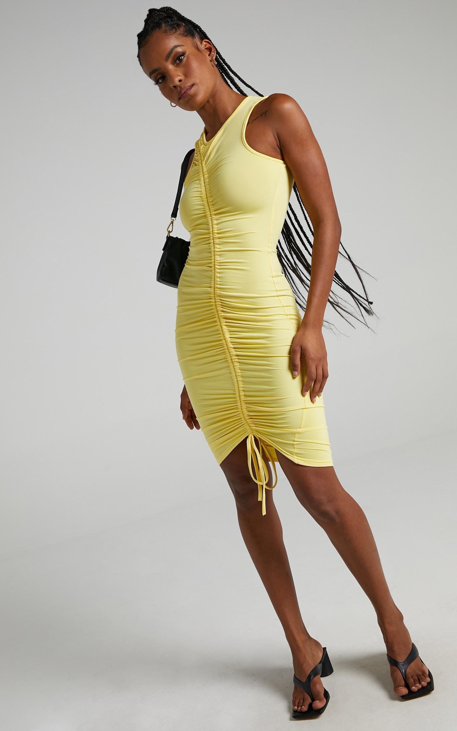 Cammy Midi Dress In Lemon - 6 (XS), Yellow, hi-res image number null