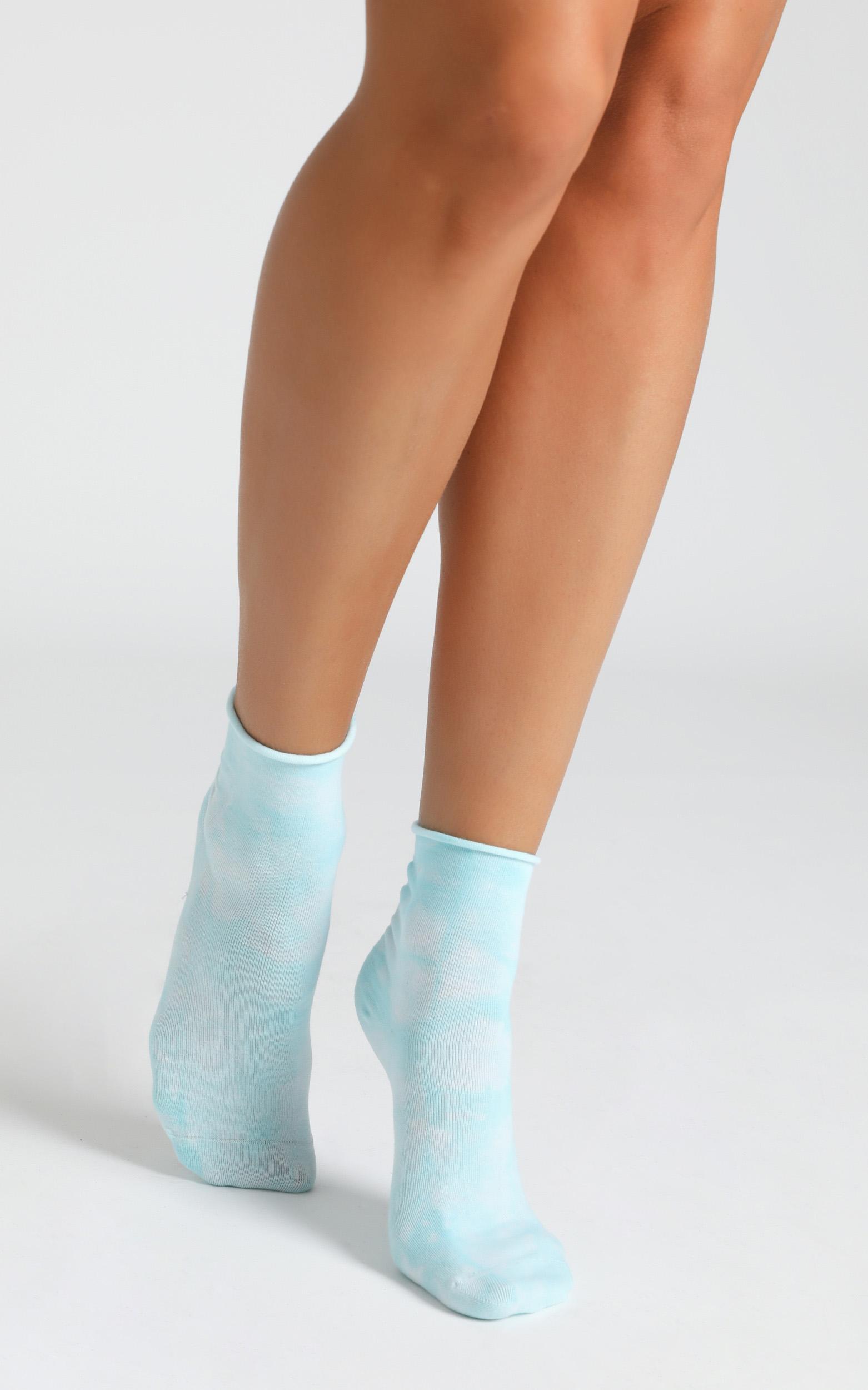 Superga - 3 Pack Cotton Crew Tie Dye Socks In Blue, Light Sky, Pink, , hi-res image number null