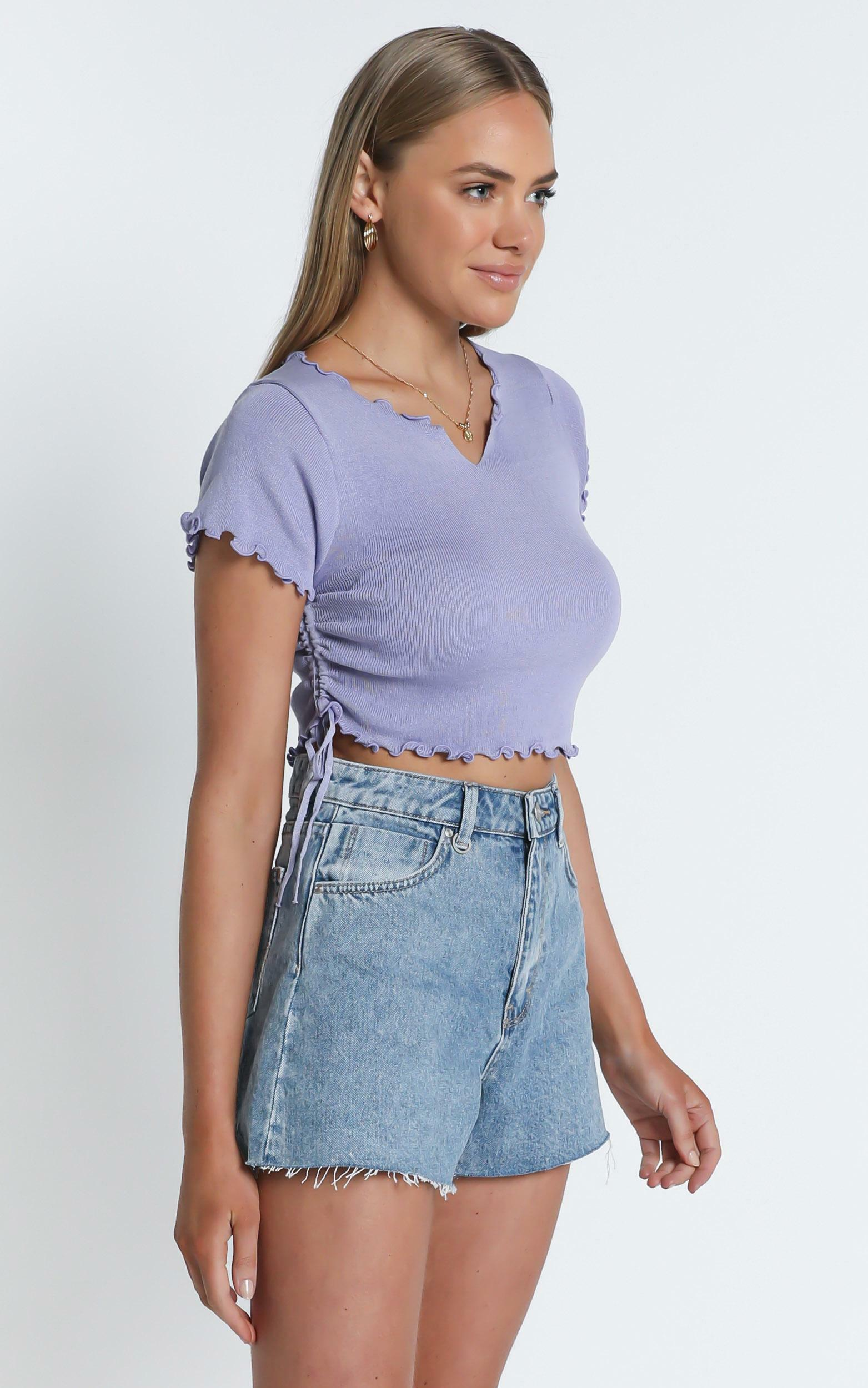 Bridie Top in Blue - S/M, Blue, hi-res image number null