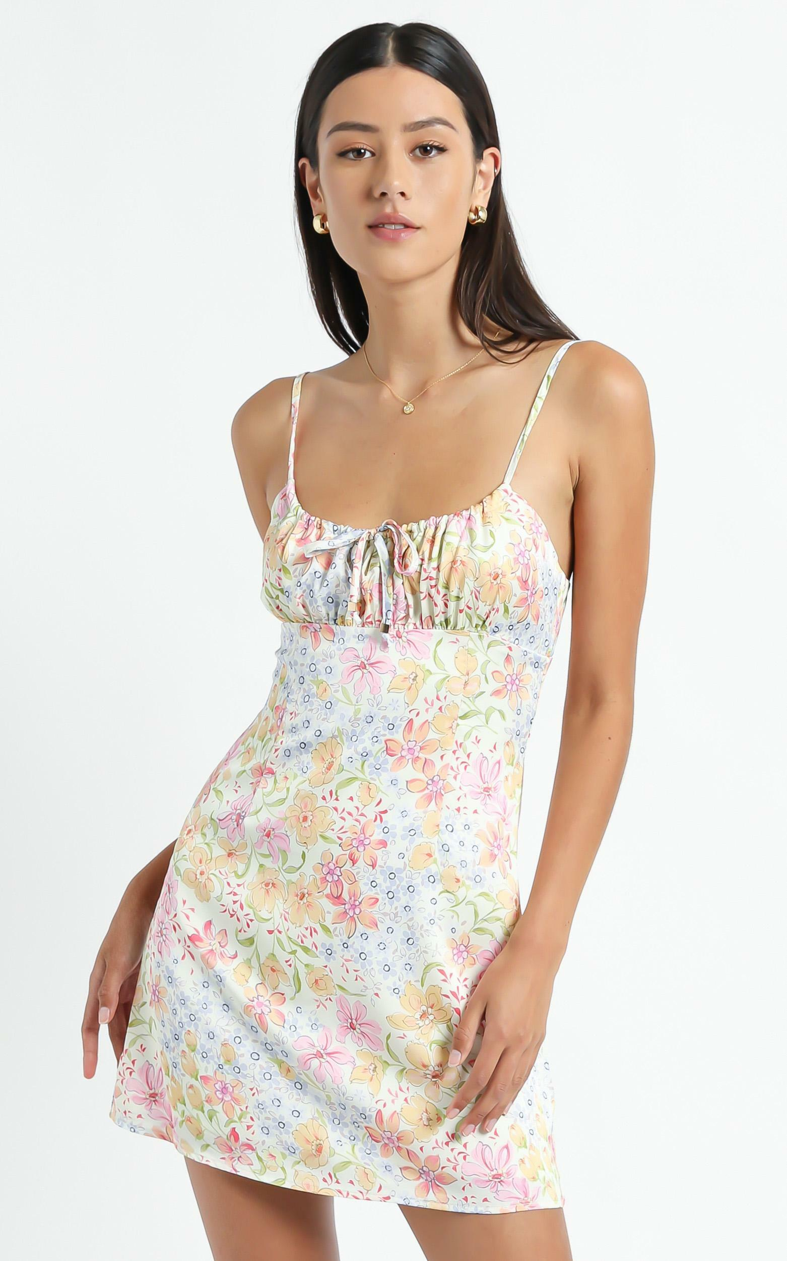 Ive Got You Now Dress in Multi Floral - 8 (S), CRE1, hi-res image number null