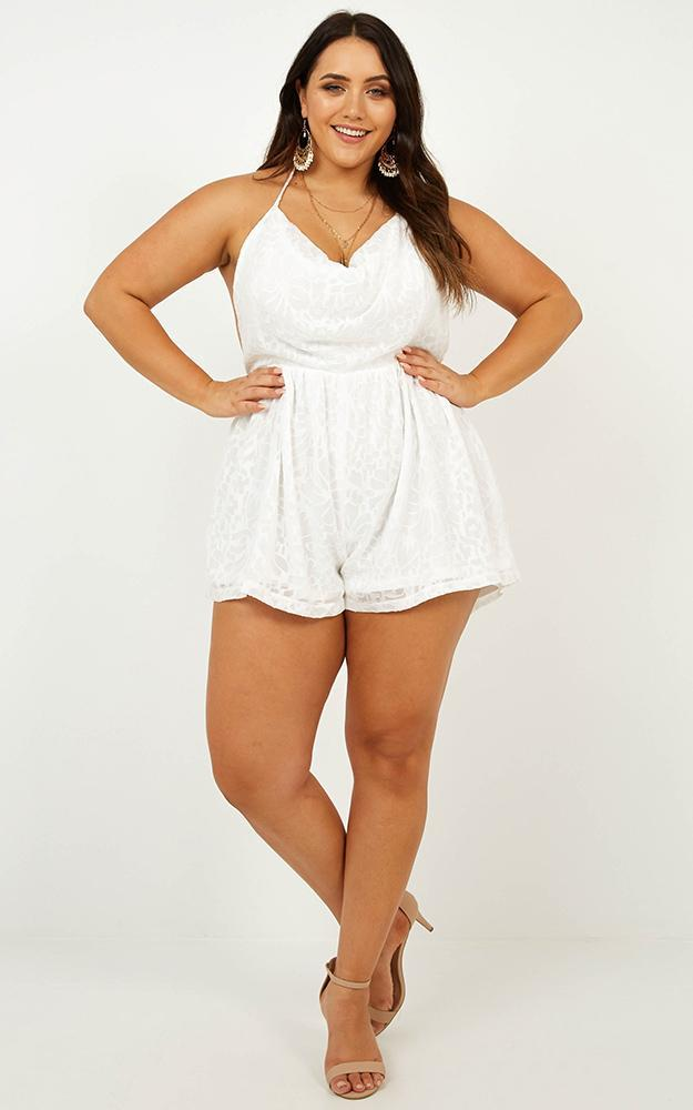 Running River Playsuit in White - 20 (XXXXL), White, hi-res image number null