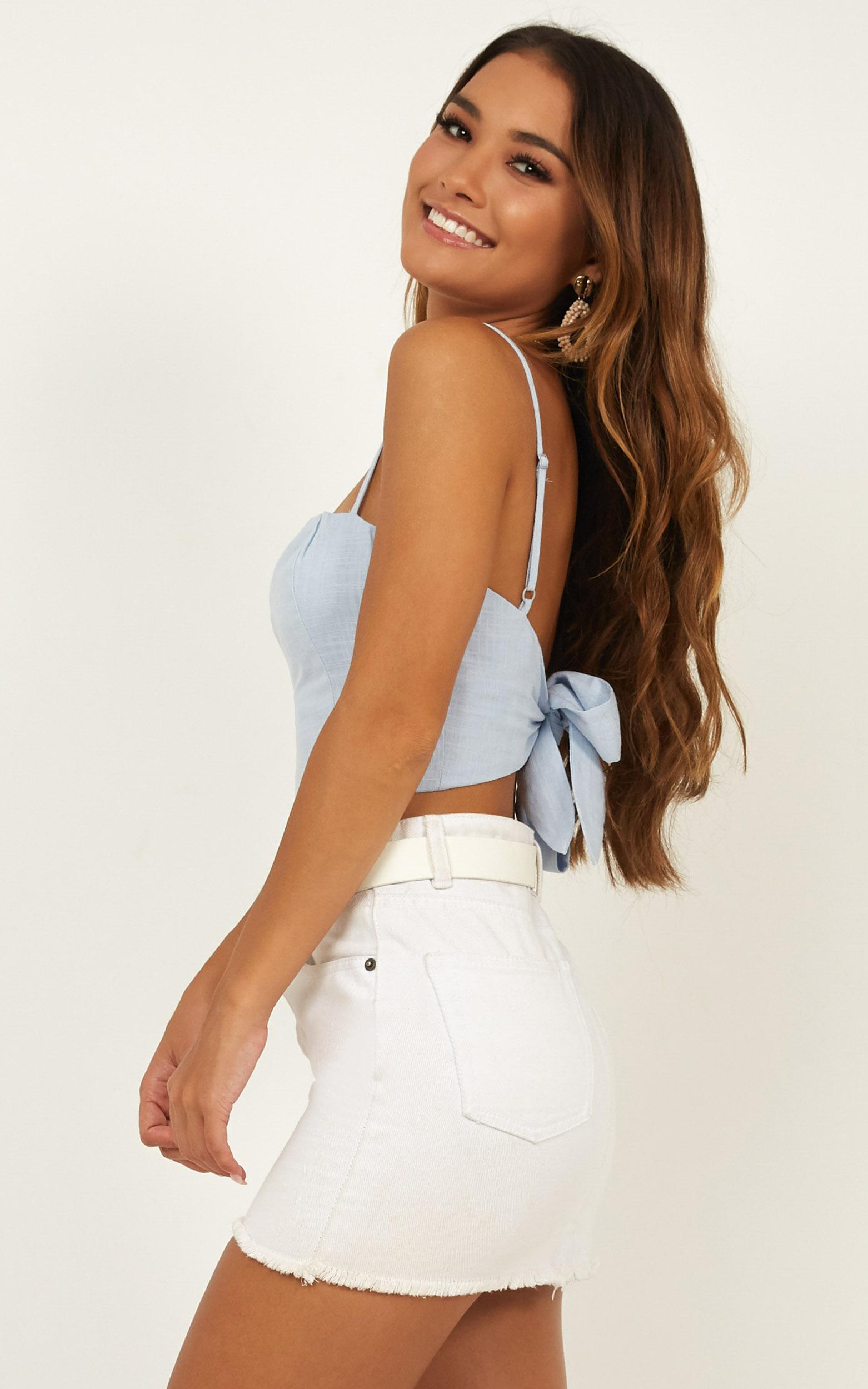 Youve Got This Top in blue linen look - 20 (XXXXL), Blue, hi-res image number null