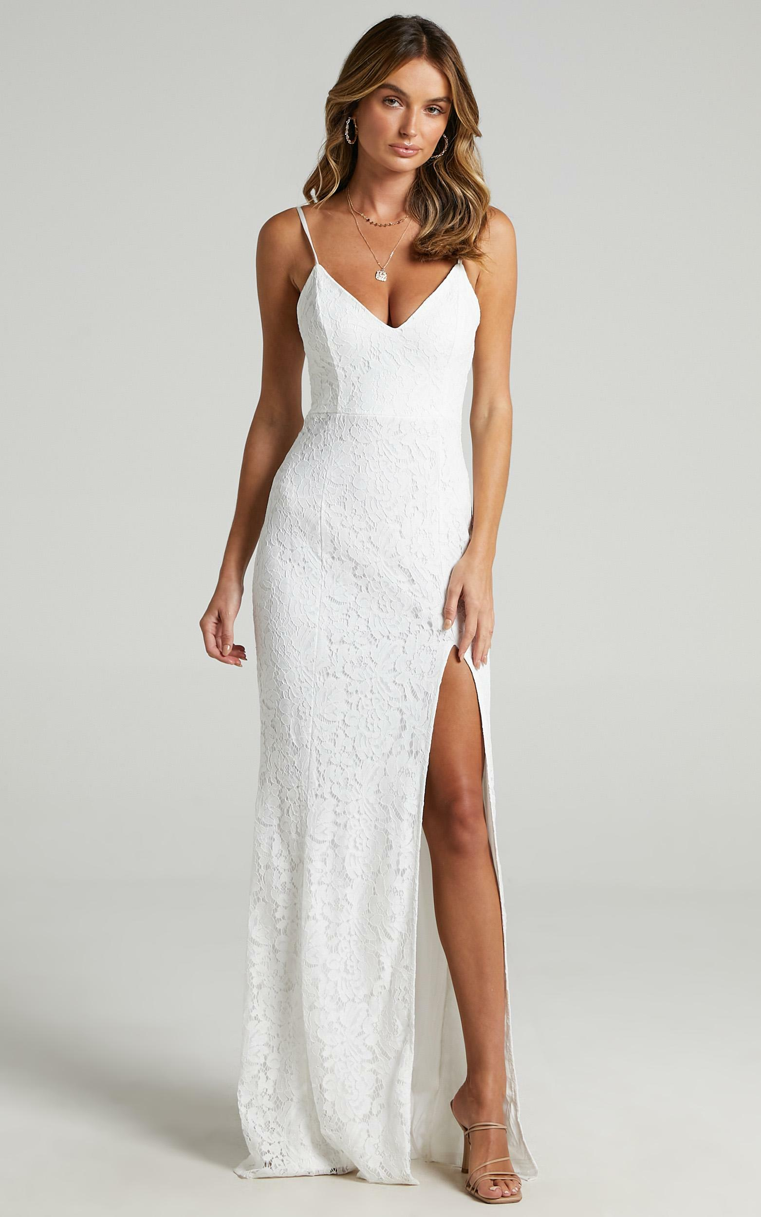 Always Extra Dress in White Lace - 14, WHT1, hi-res image number null