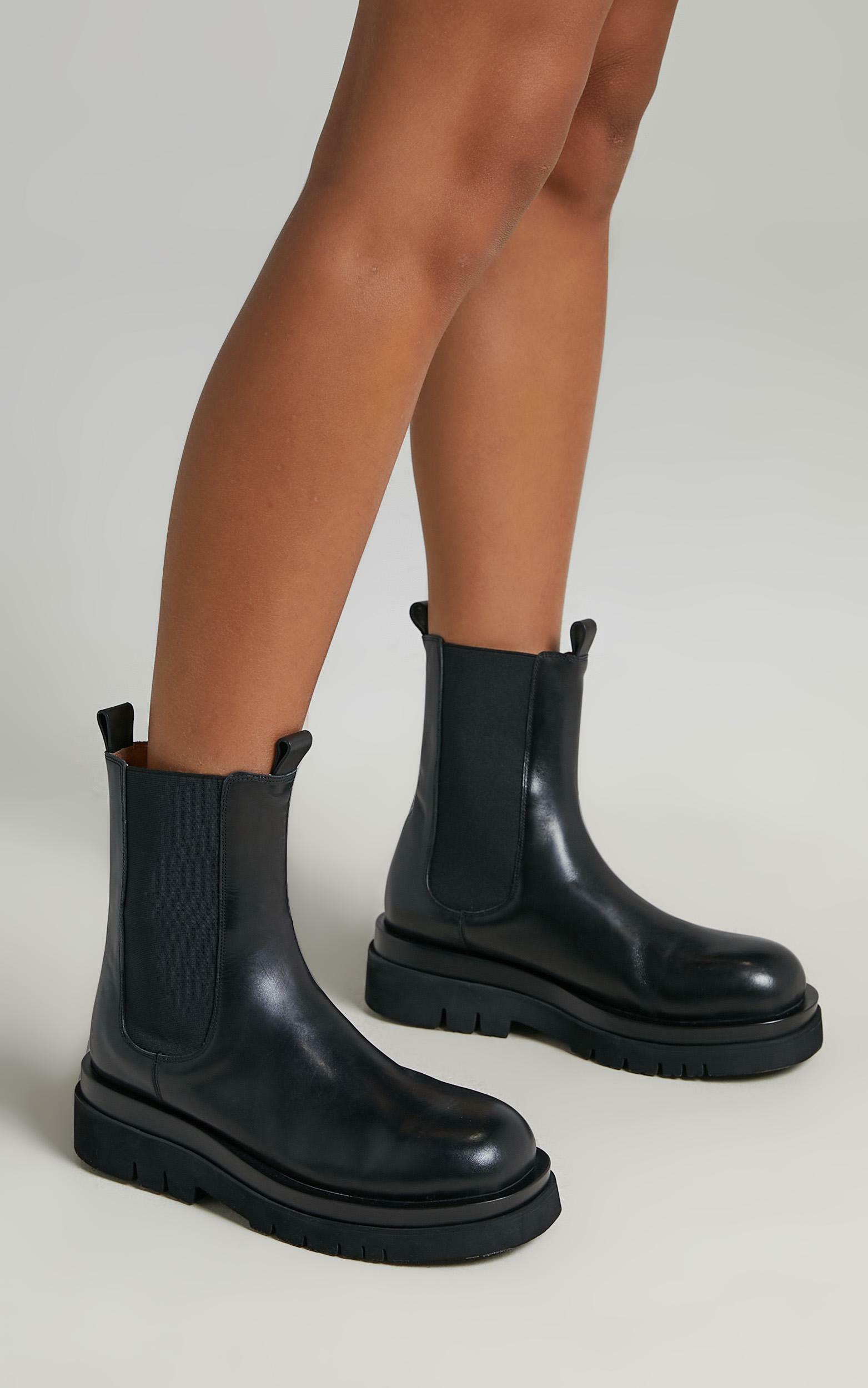 Alias Mae - Cam Boots in Black Burnished - 5.5, BLK1, hi-res image number null