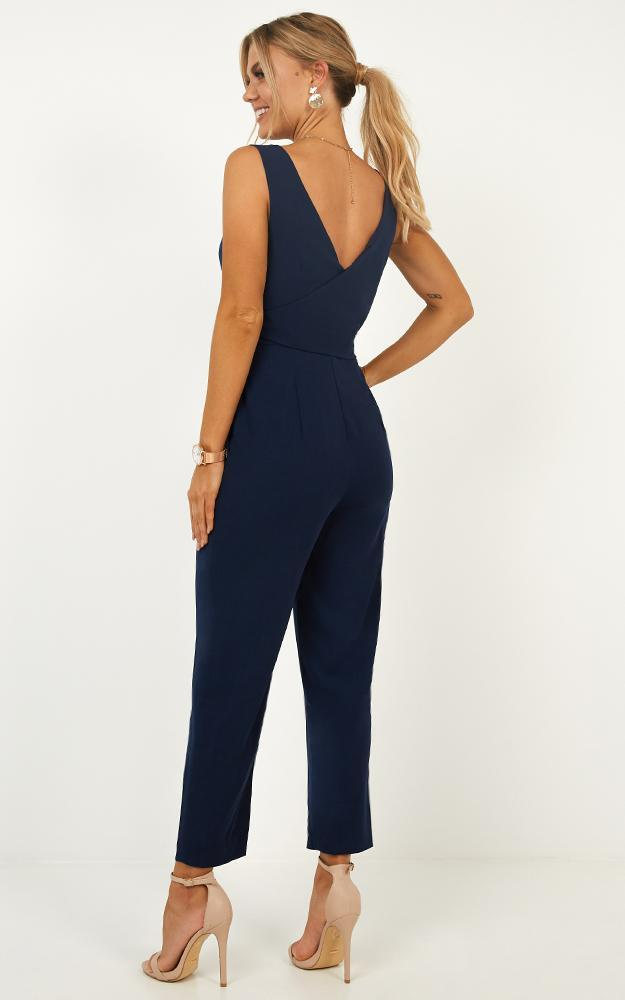 Let It HappenJumpsuit In navy - 14 (XL), Navy, hi-res image number null