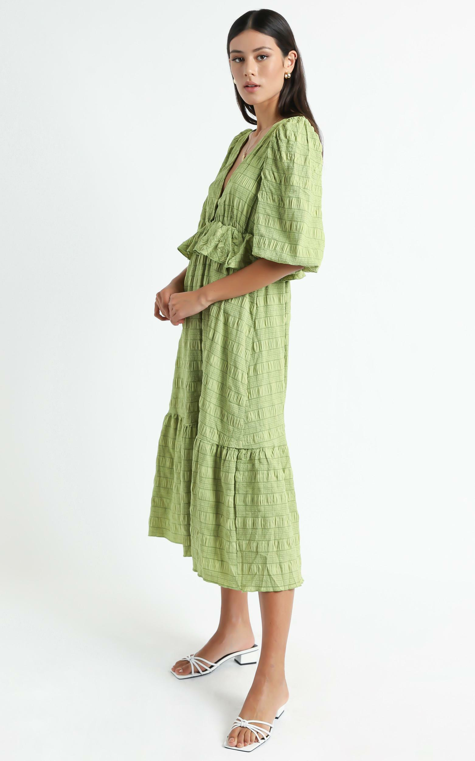 Addilyn Dress in Green Check - 6 (XS), Green, hi-res image number null