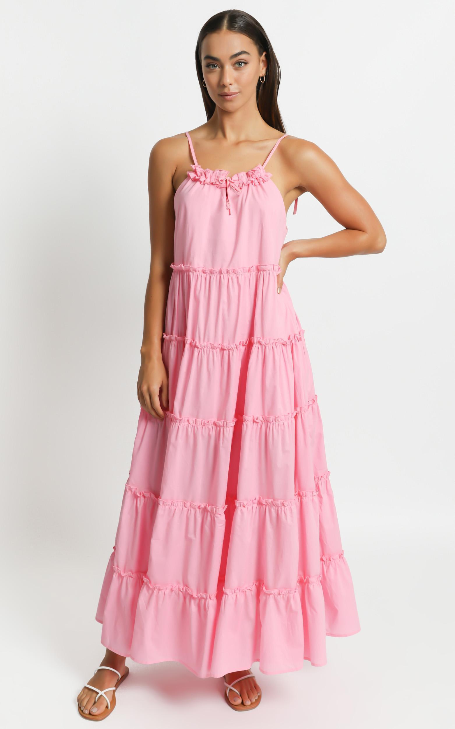 Charlie Holiday - Senorita Maxi Dress in Bubblegum - XS, Pink, hi-res image number null
