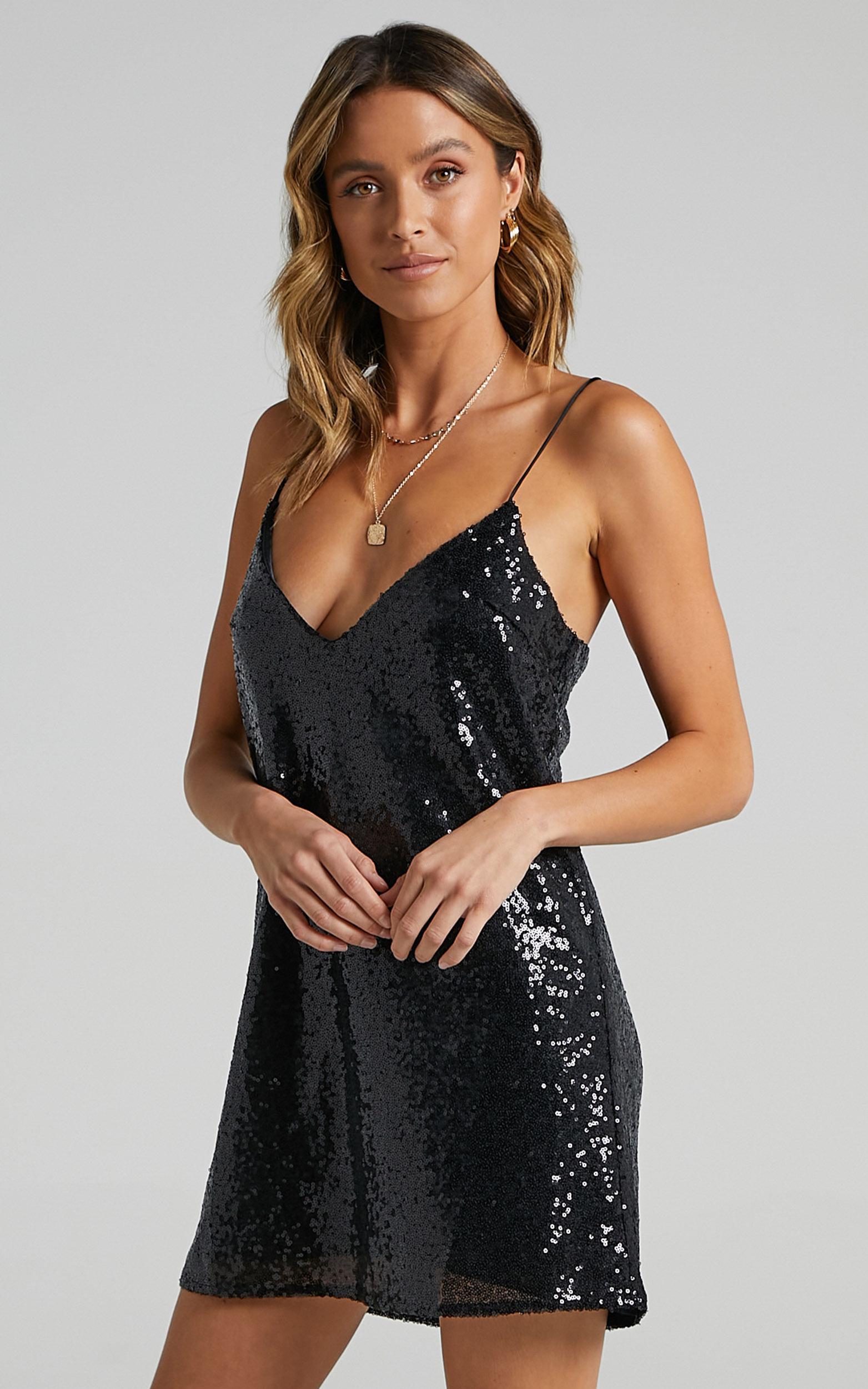Nights In Vegas Dress in Black Sequin - 04, BLK1, hi-res image number null