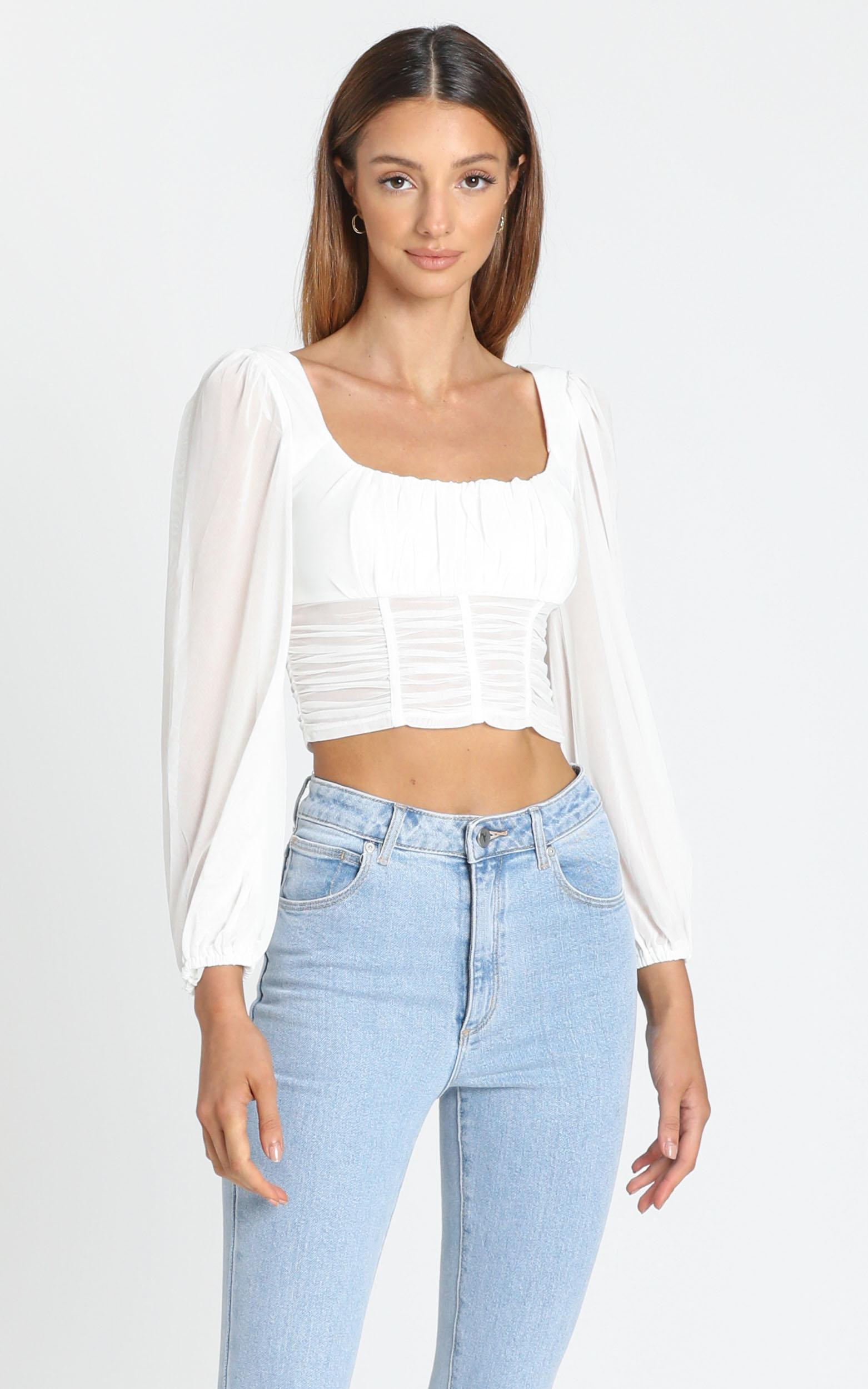 Caelan Top in White - 6 (XS), White, hi-res image number null