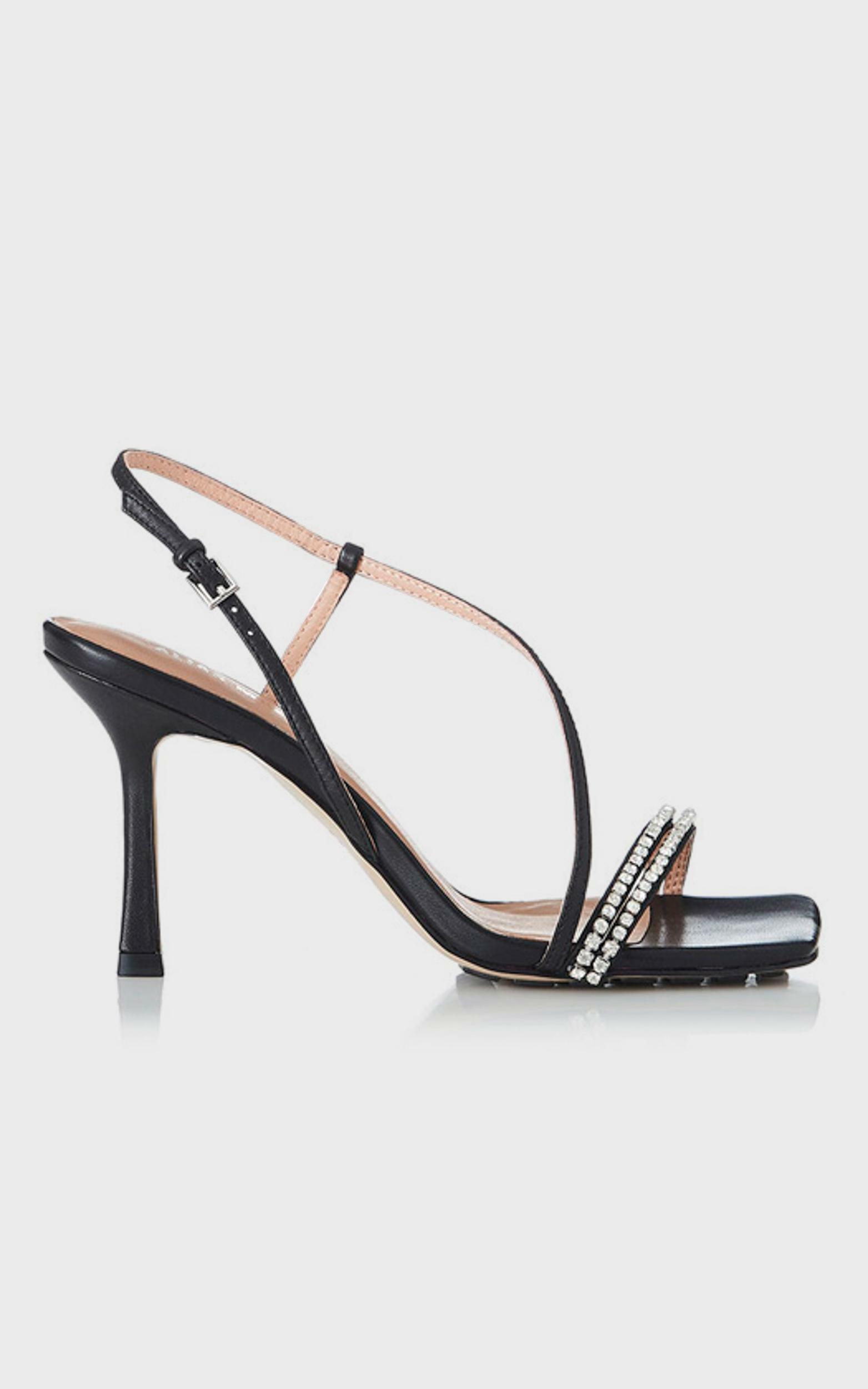 Alias Mae - Lesly Heel in Black Kid Leather  - 5.5, Black, hi-res image number null