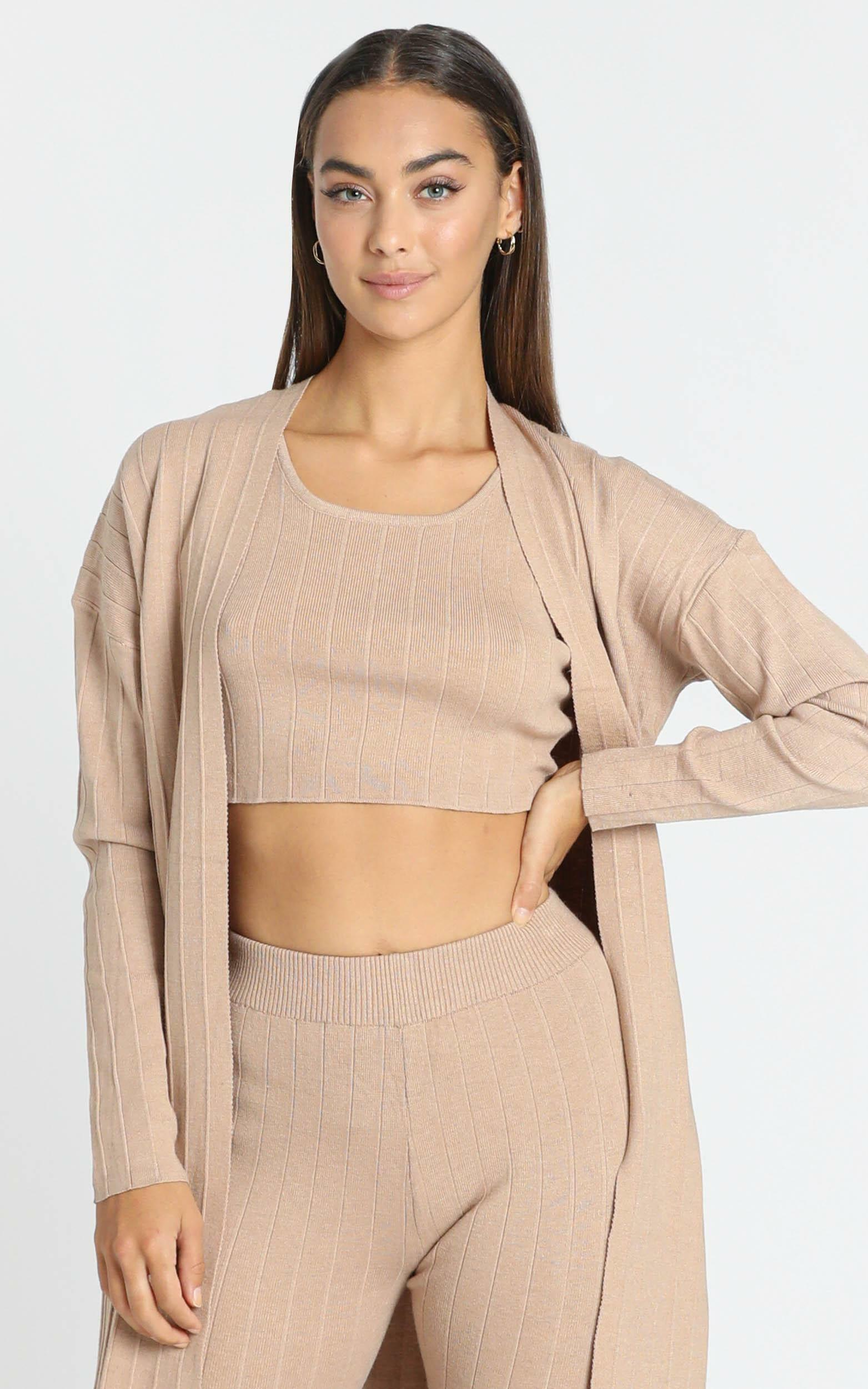 Nova Knitted Cami in Cocoa, Camel, hi-res image number null
