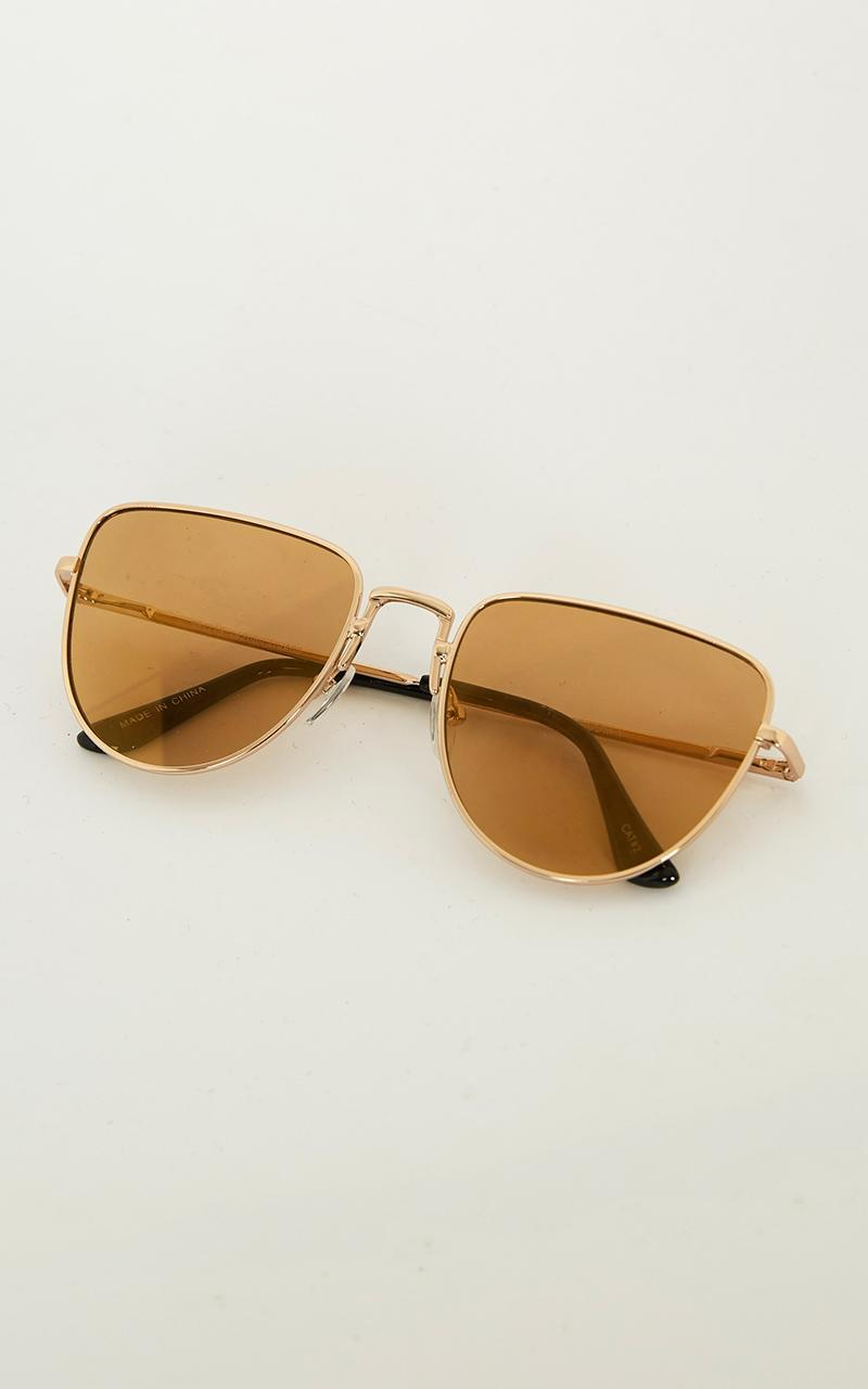Treasured Lover Sunglasses In Gold, , hi-res image number null