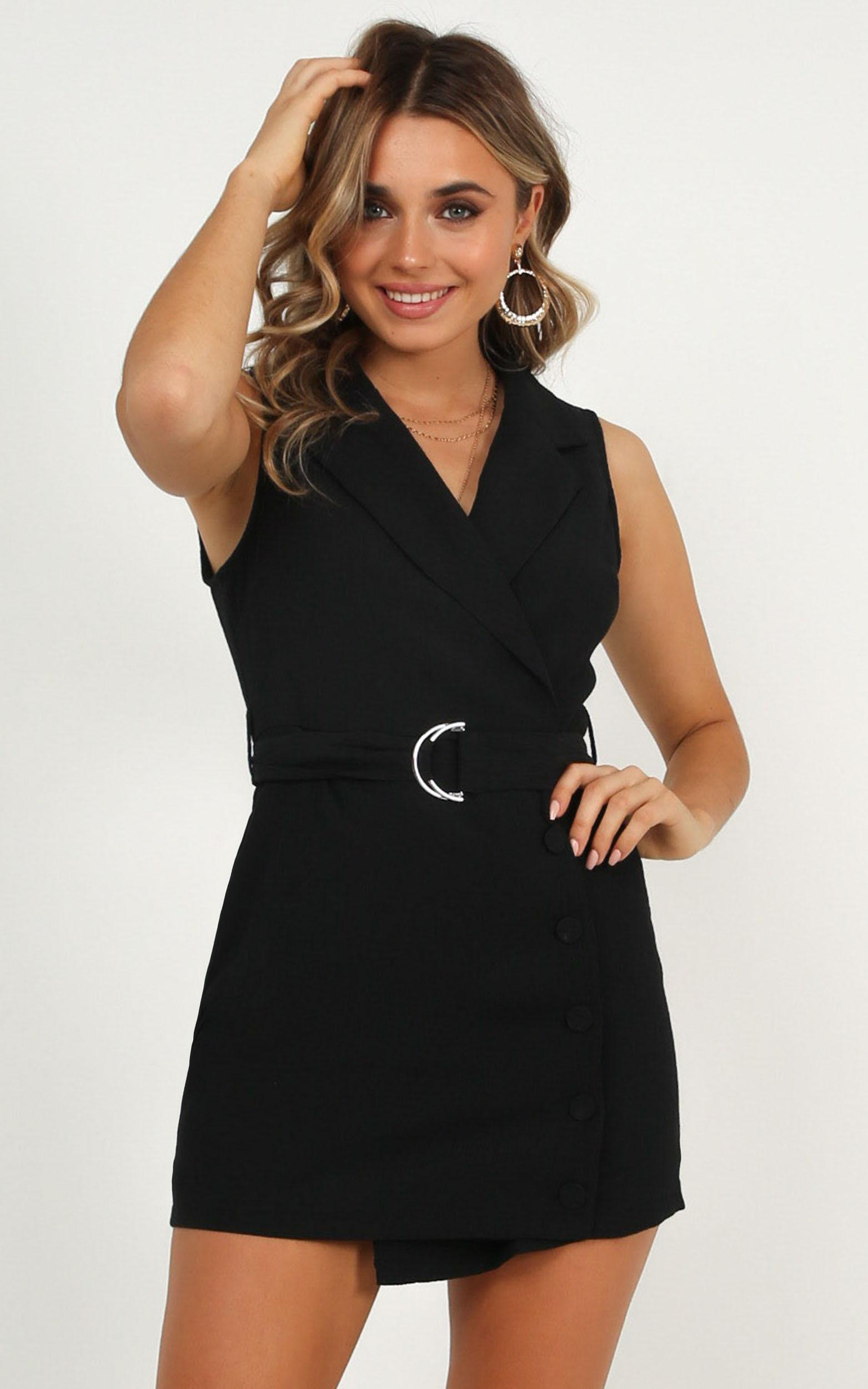 Remember Thinking Playsuit In black - 20 (XXXXL), Black, hi-res image number null
