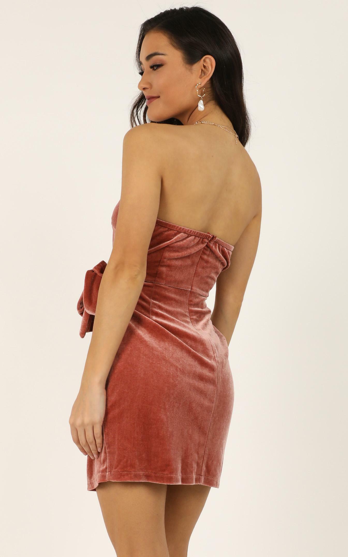In The fire Dress in blush velvet - 20 (XXXXL), Blush, hi-res image number null