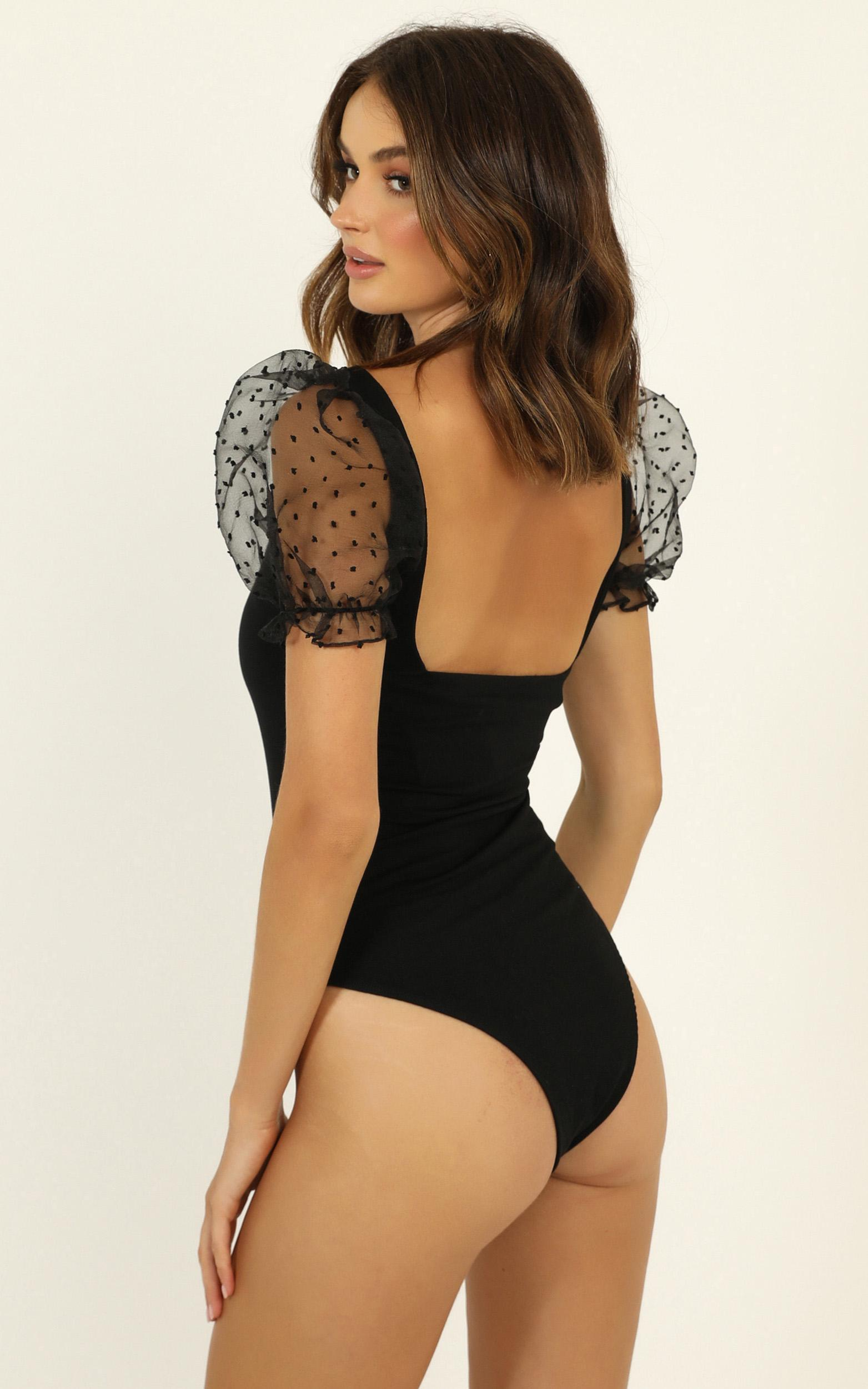 Kiss Me Quickly Bodysuit In black - 20 (XXXXL), Black, hi-res image number null