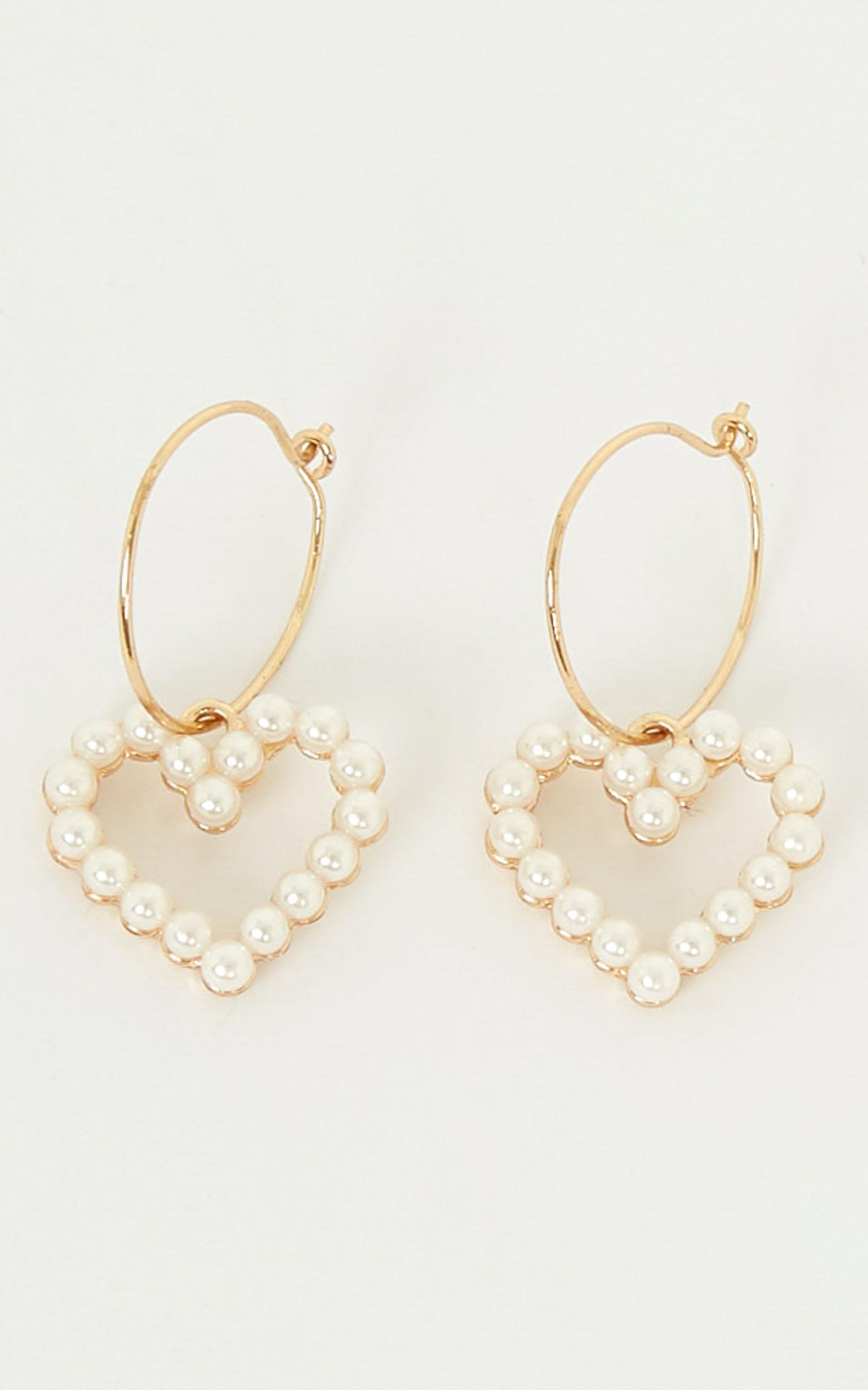Through And Through Earrings In Pearl, , hi-res image number null