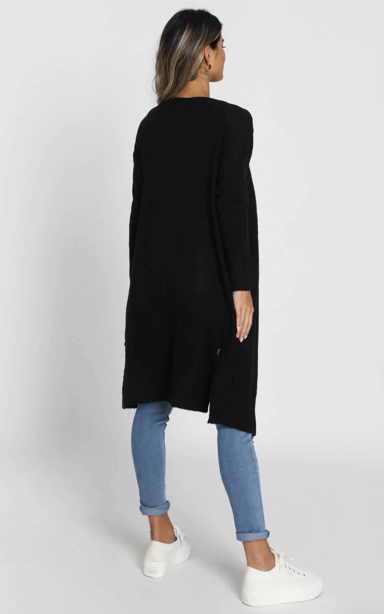 Around The Bend Cardigan in black - 14 (XL), Black, hi-res image number null