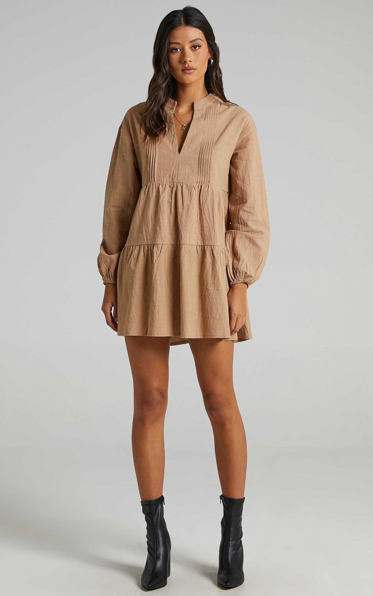 Estelita Dress in Beige - 04, BRN1, hi-res image number null