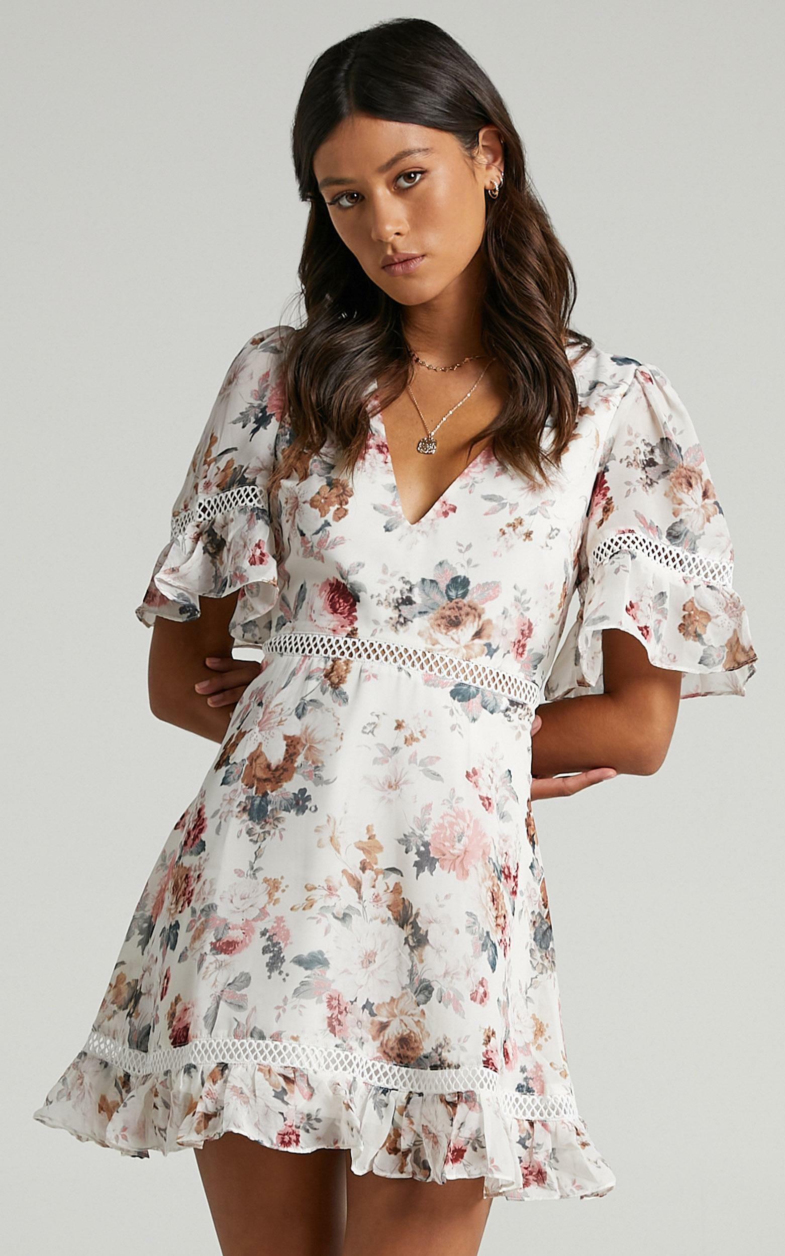 My Darkest Night Dress in White Floral - 20, WHT1, hi-res image number null