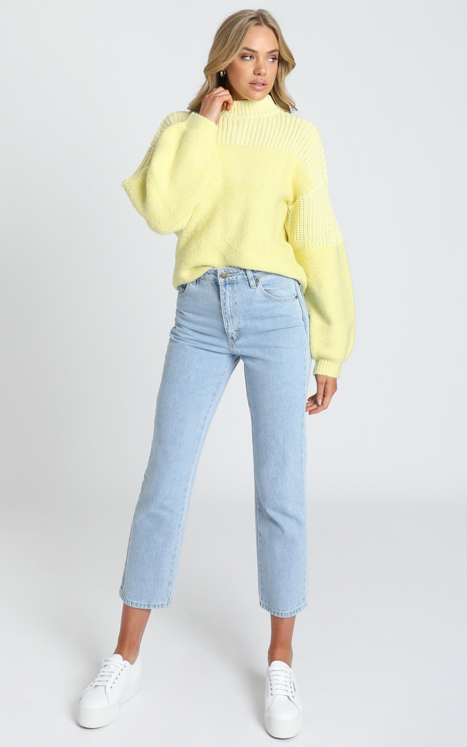 Dakota Knit Jumper in yellow - 6 (XS), Yellow, hi-res image number null