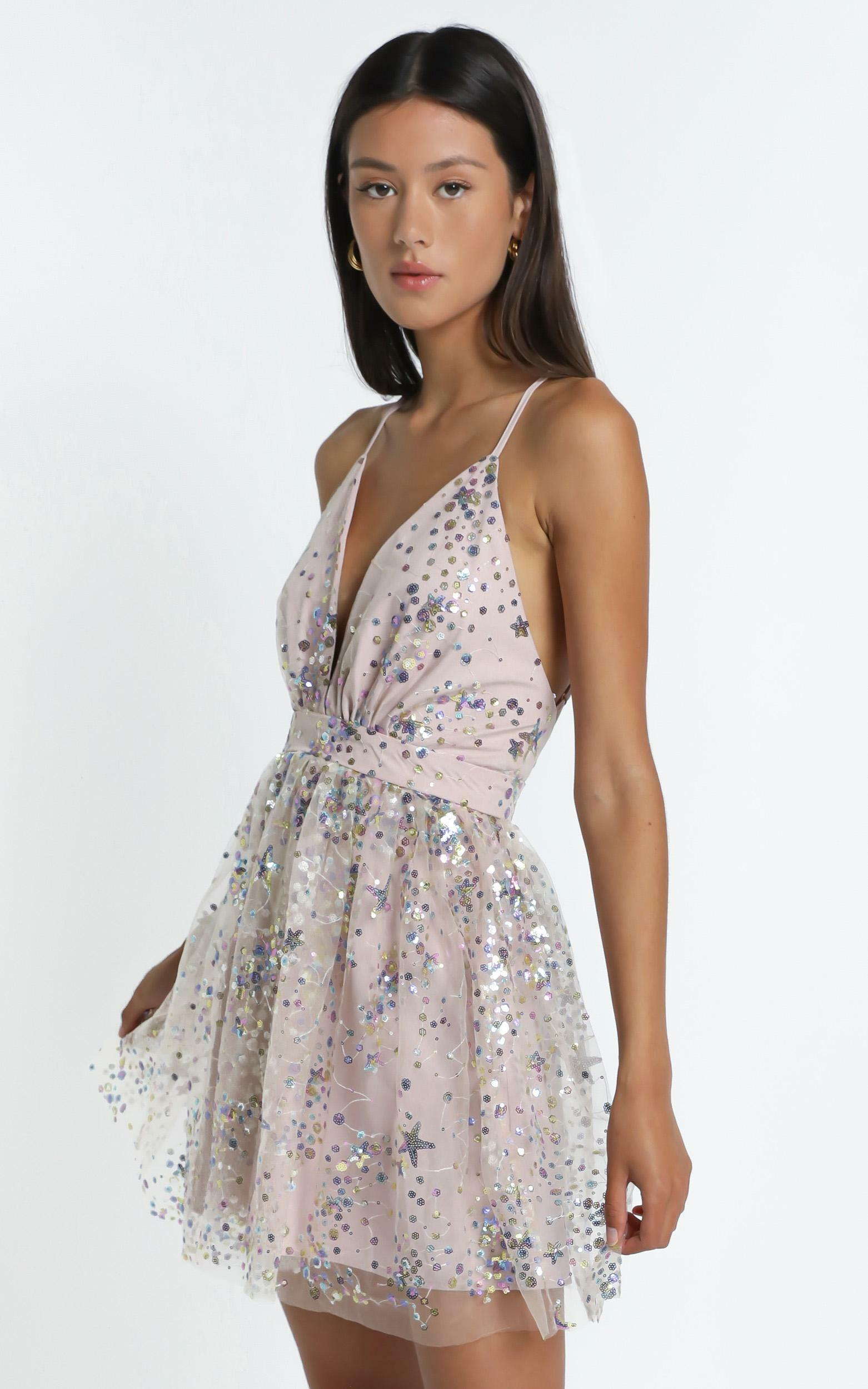 Watch the Queen Conquer Dress in multi sequin - 6 (XS), Silver, hi-res image number null