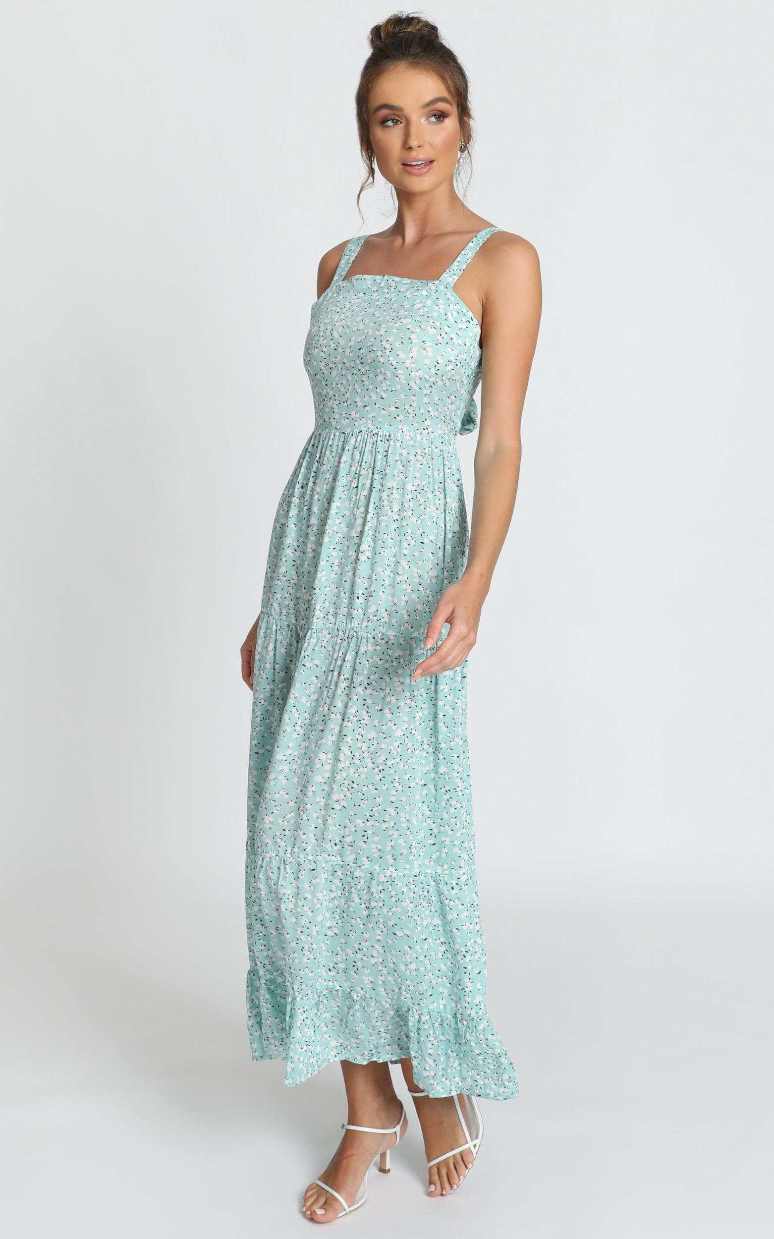 Midnight Cruise Maxi Dress in sage floral - 14 (XL), Sage, hi-res image number null