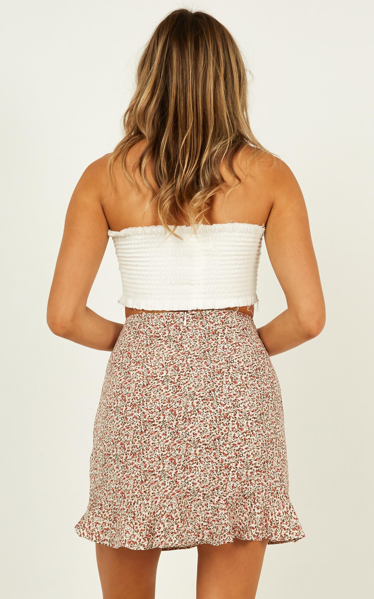 Make No Promises Skirt in blush floral - 18 (XXXL), Blush, hi-res image number null