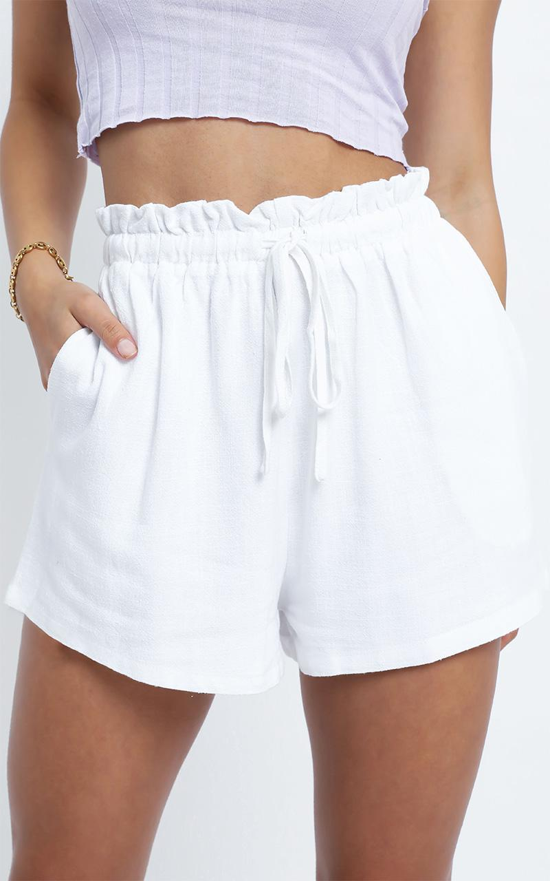 Brooklyn Shorts in White - 14 (XL), White, hi-res image number null